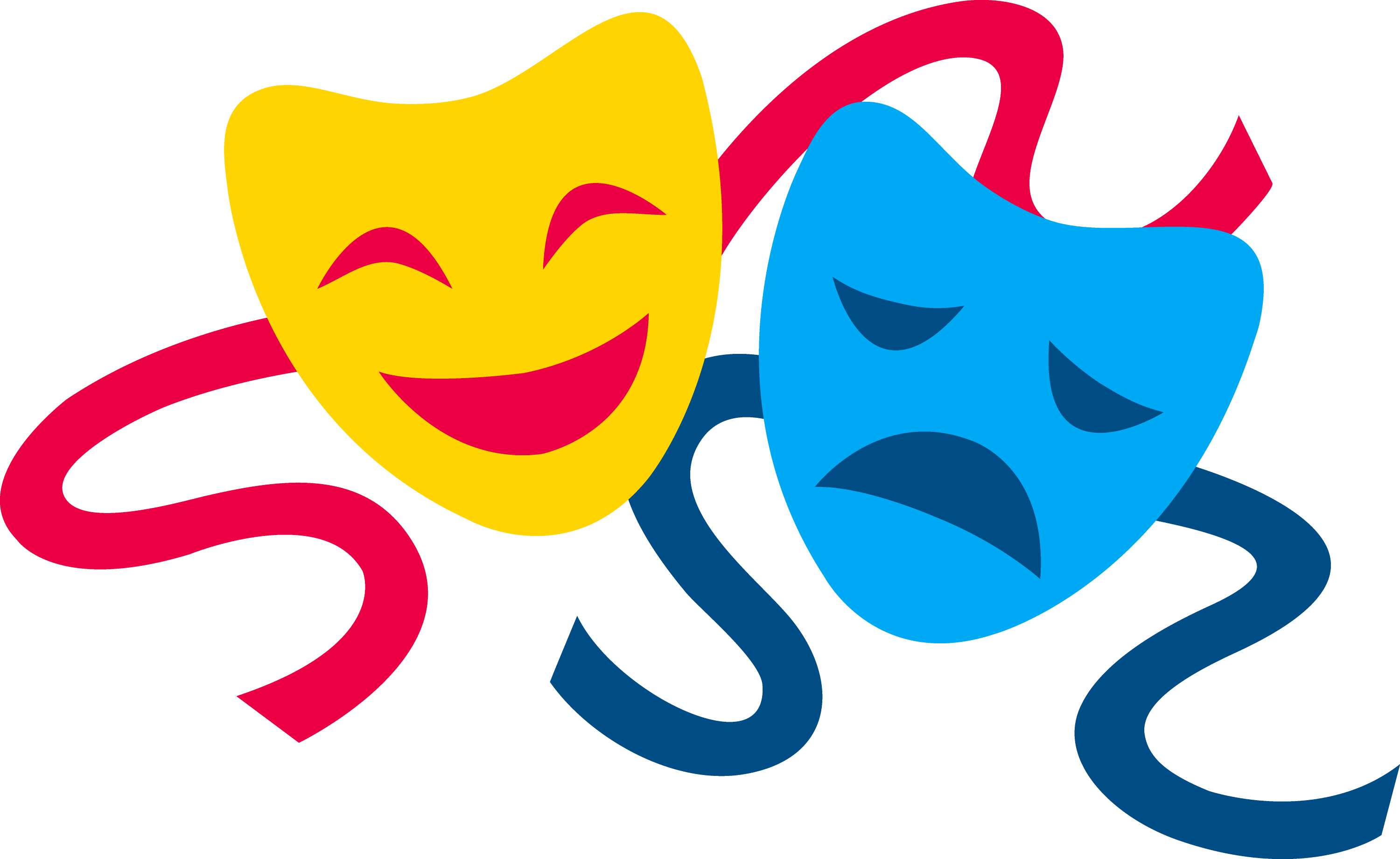 Comedy and Tragedy Masks - Free Clip Art