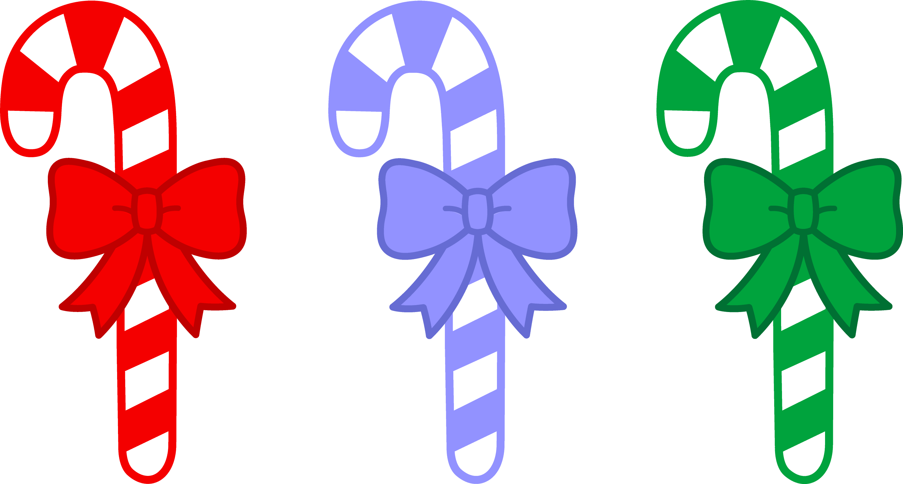 three candy canes with bows free clip art rh sweetclipart com free clipart christmas candy cane free christmas candy pictures clip art