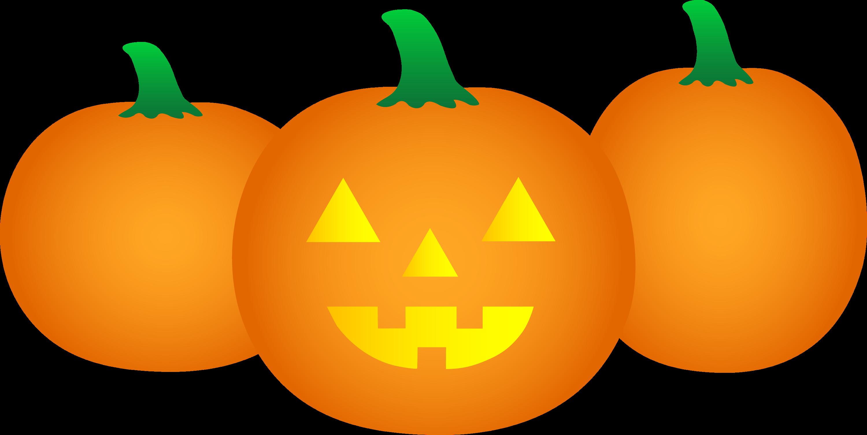 Halloween Pumpkins Clipart Three halloween pumpkins