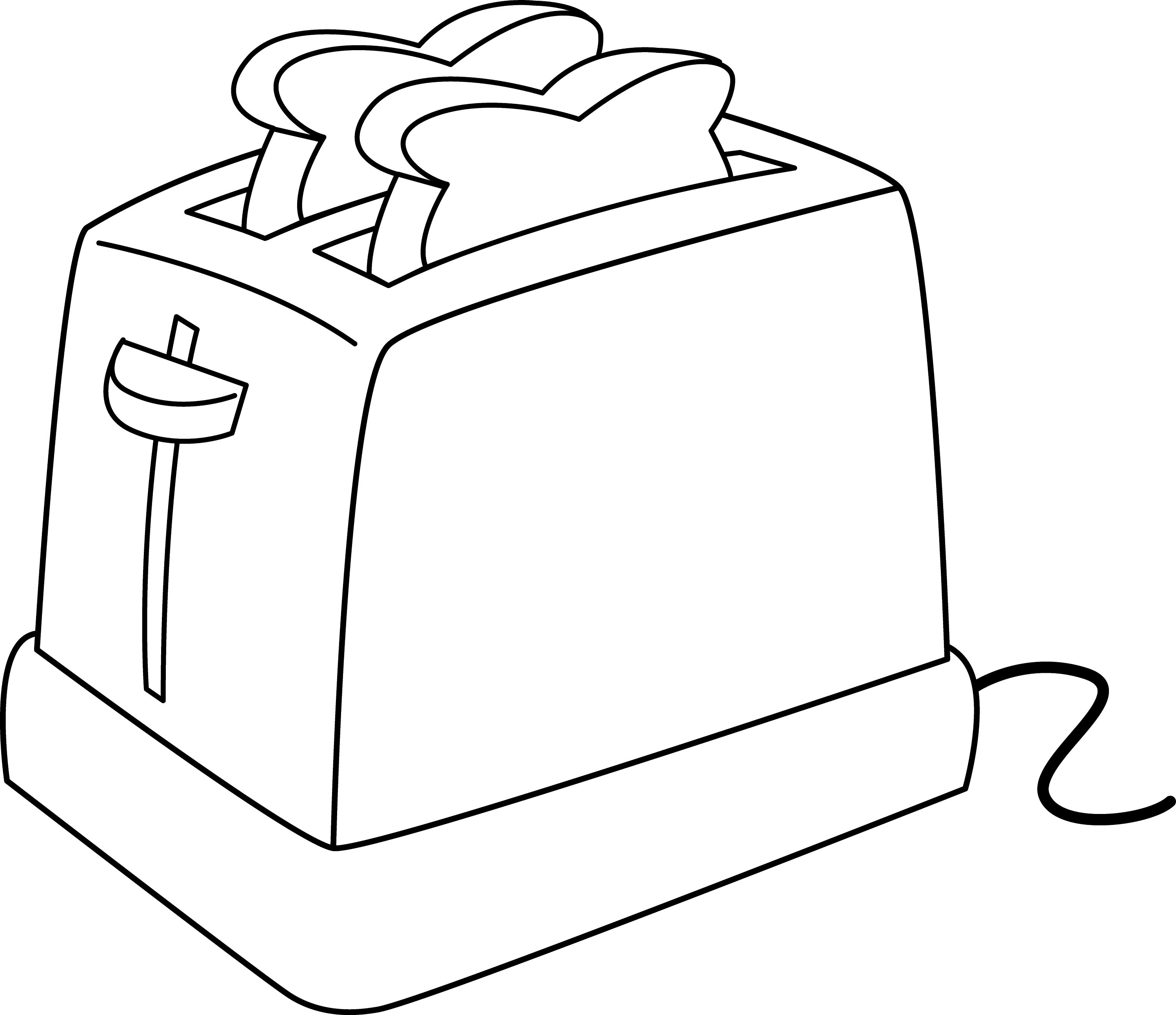 Bread Toaster Drawing Electric Toaster Line Art