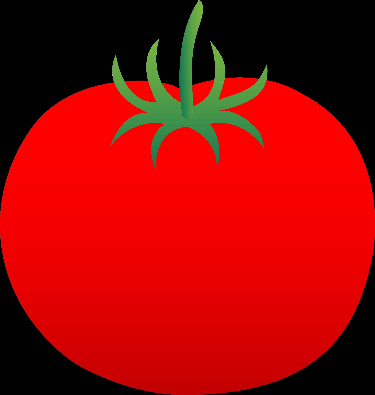 Whole Ripe Red Tomato - Free Clip Art