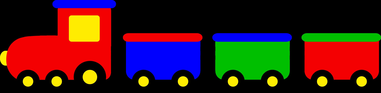 Cute colorful train