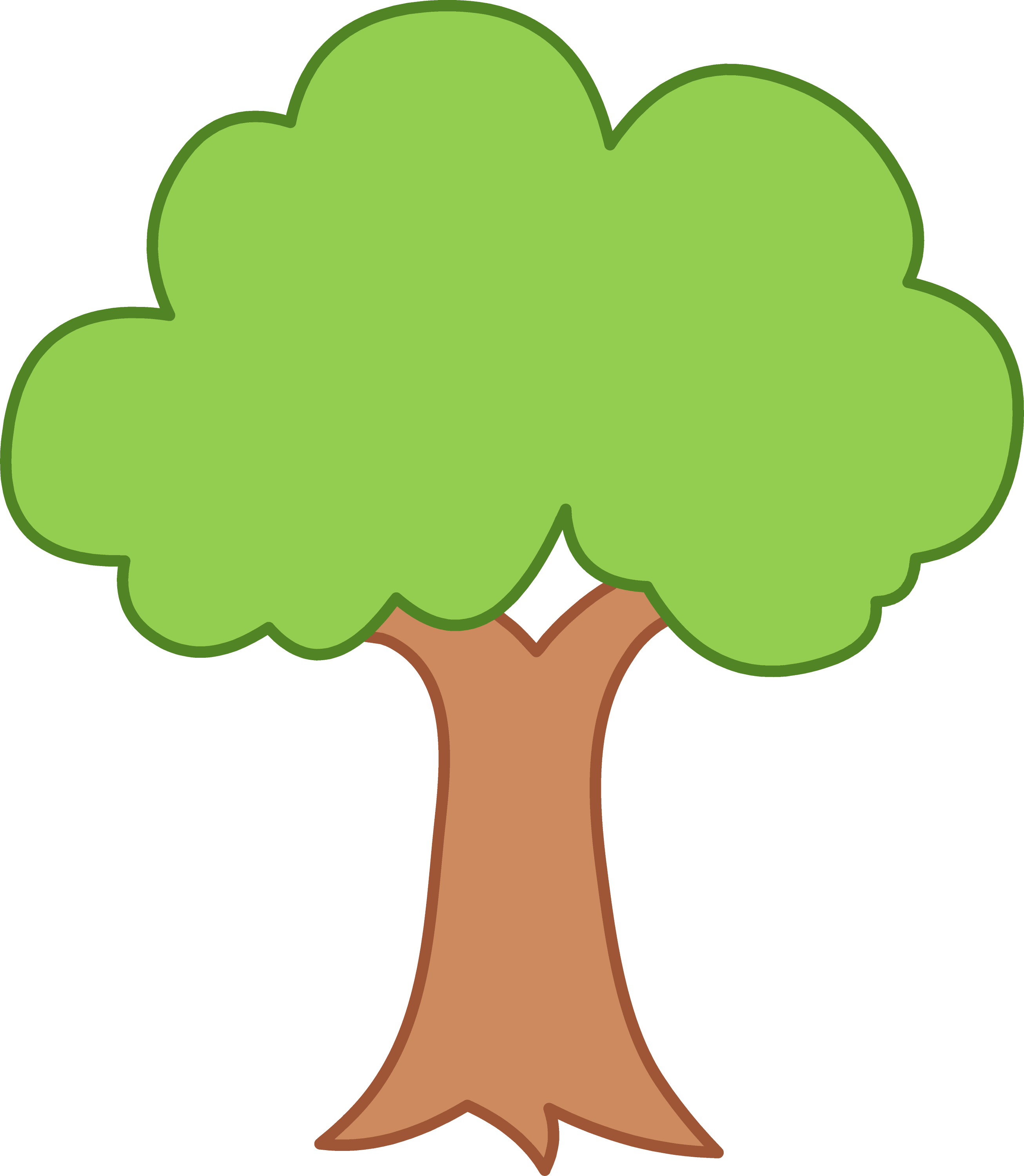 simple green tree design free clip art