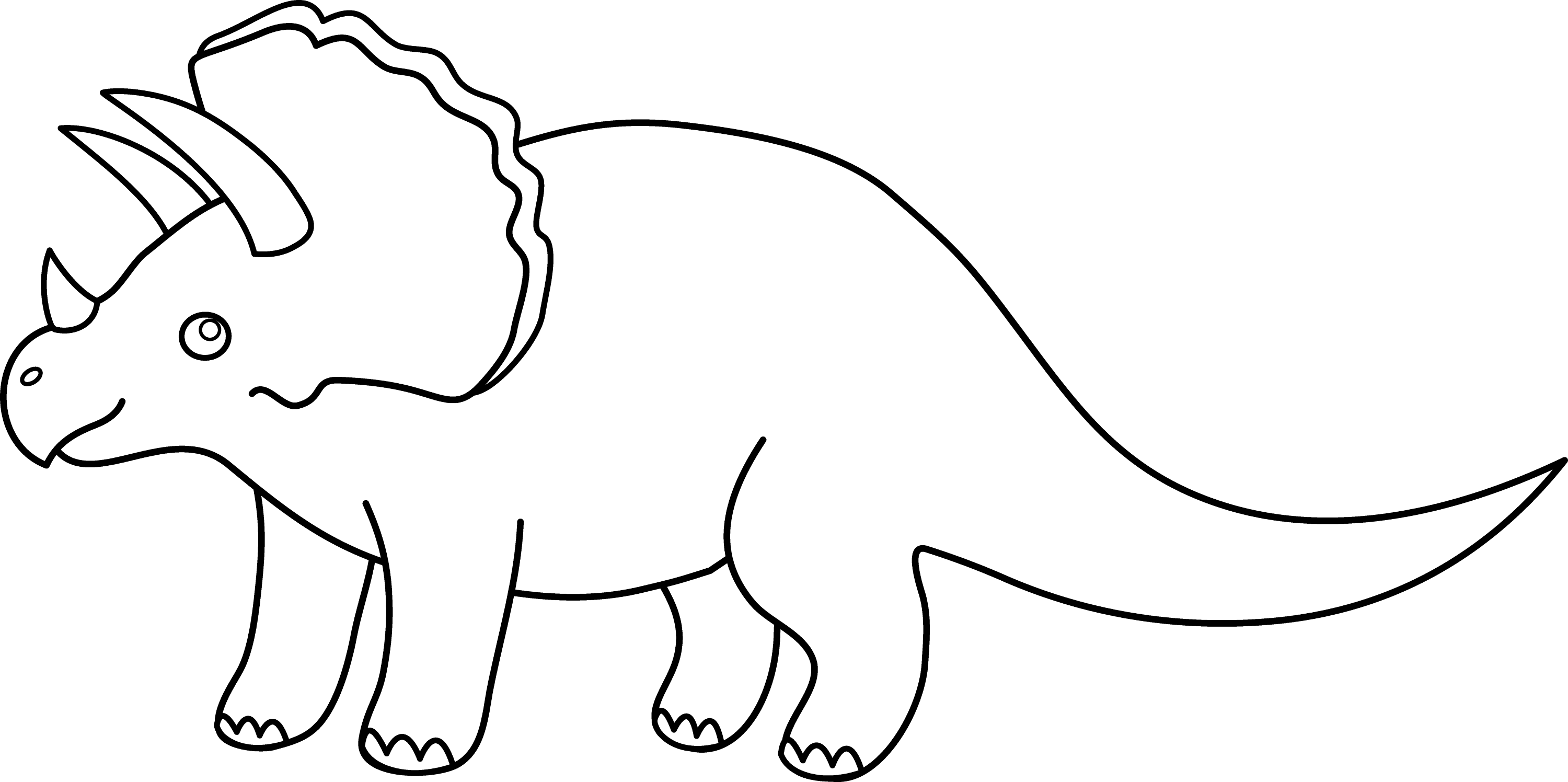 Triceratops Dinosaur Line Art 1115 on Reptile Worksheets Preschool