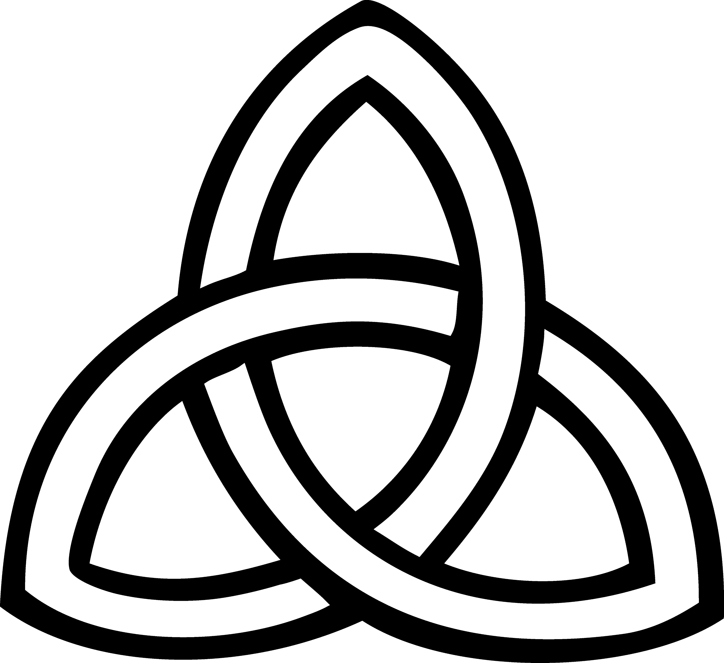 Pagan Symbols Drawings And White Triquetra Symbol