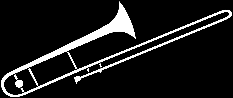 Trombone Coloring Page Trombone Line Art  Free Clip Art