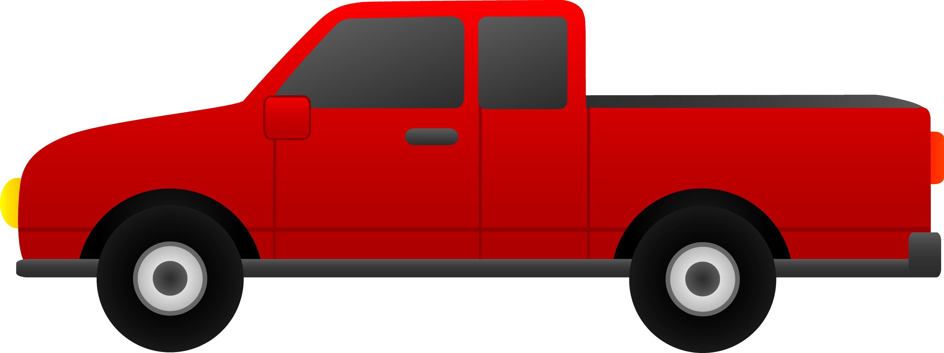 Red Pickup Truck Clip Art - Free Clip Art
