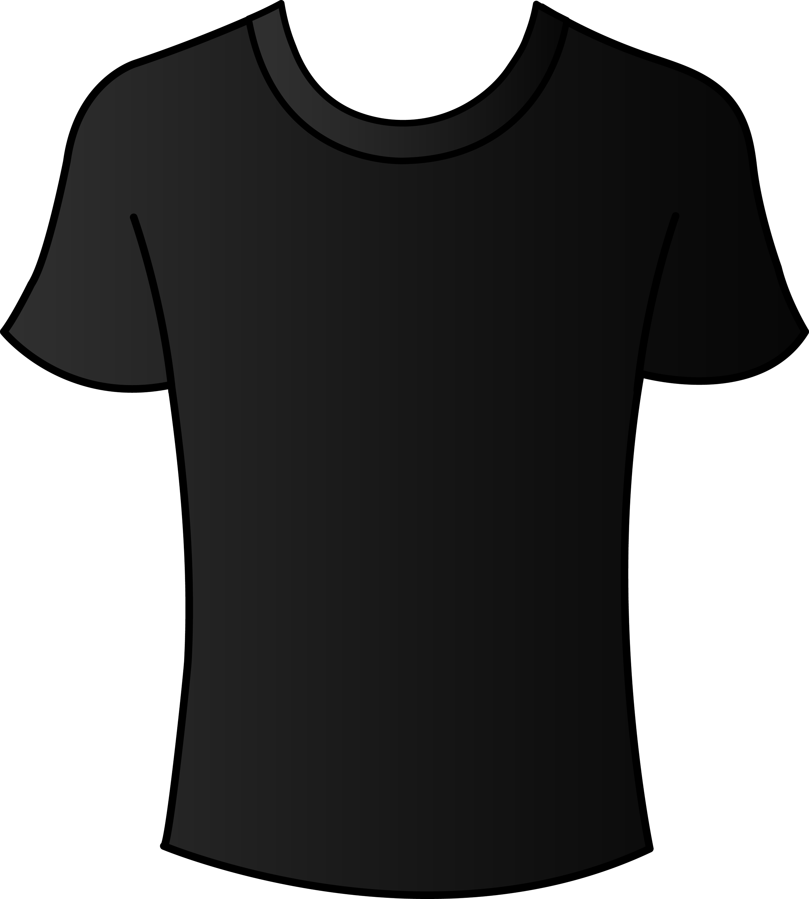 Black t shirt vector - Mens Black T Shirt Template Free Clip Art