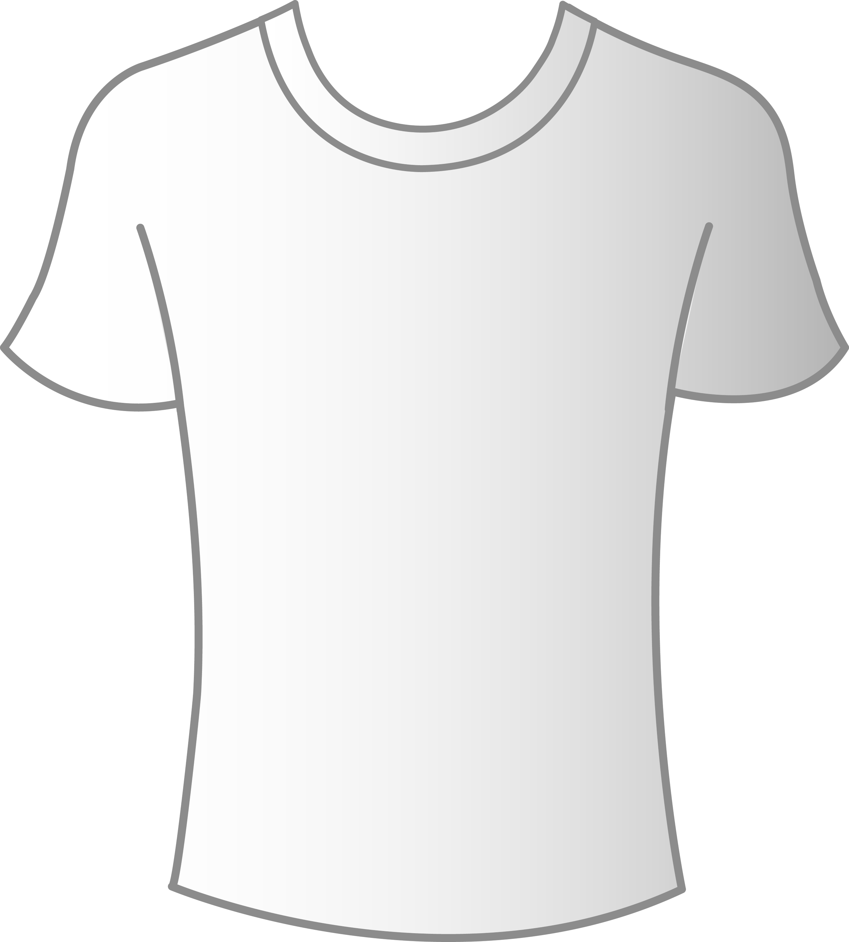 Mens White T Shirt Template Free Clip Art