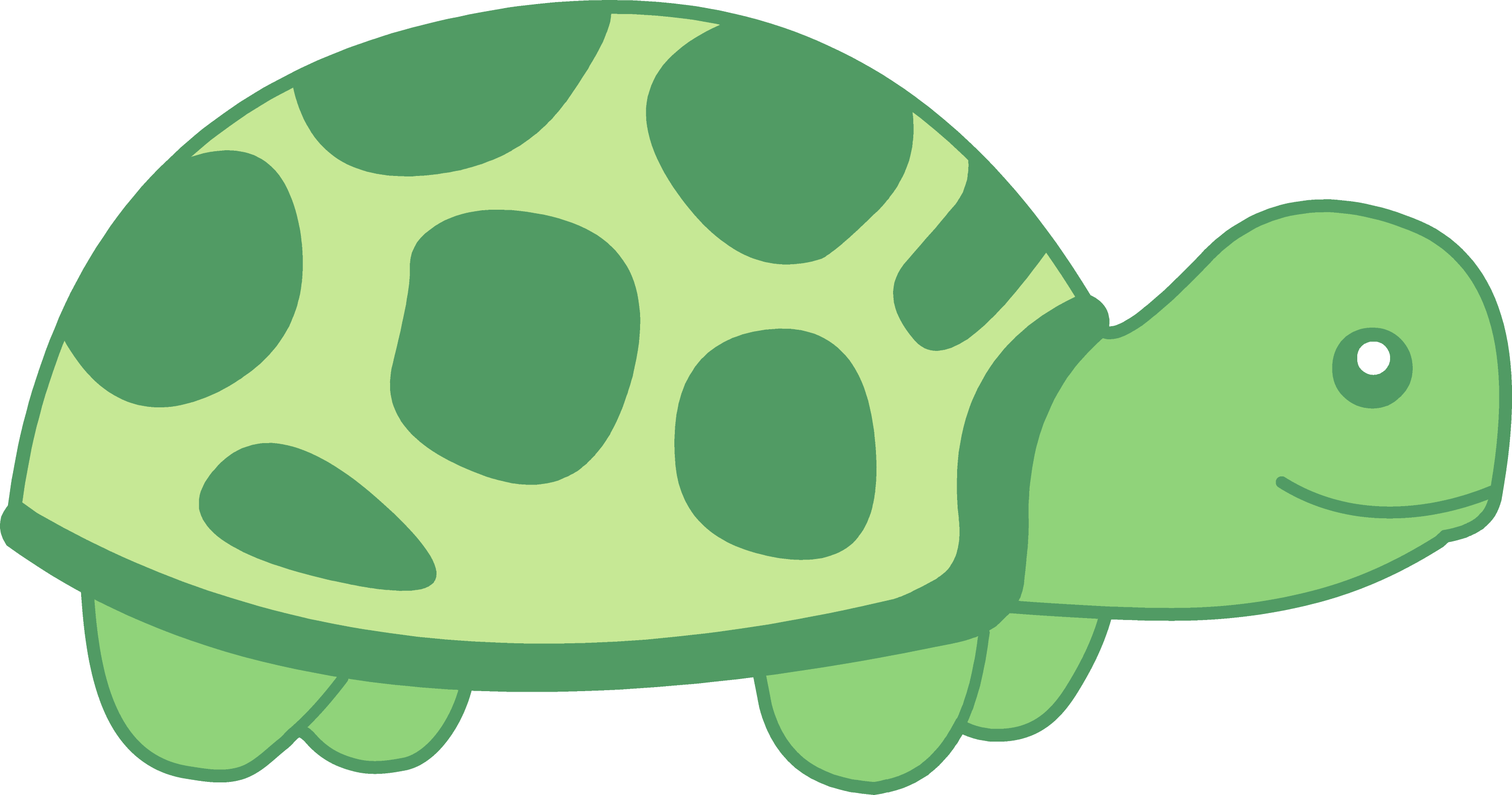 Little Green Turtle Design - Free Clip Art