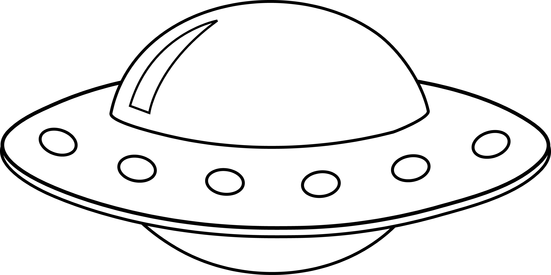 Colorable UFO Line Art