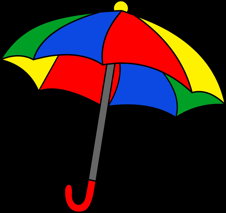 Simple Colorful Umbrella Clipart - Free Clip Art