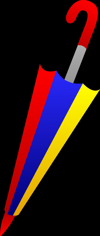 Colorful Closed Umbrella Design - Free Clip Art