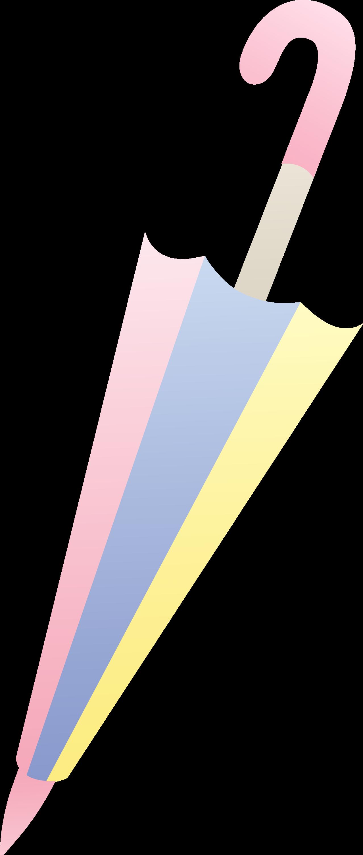 pastel closed umbrella design