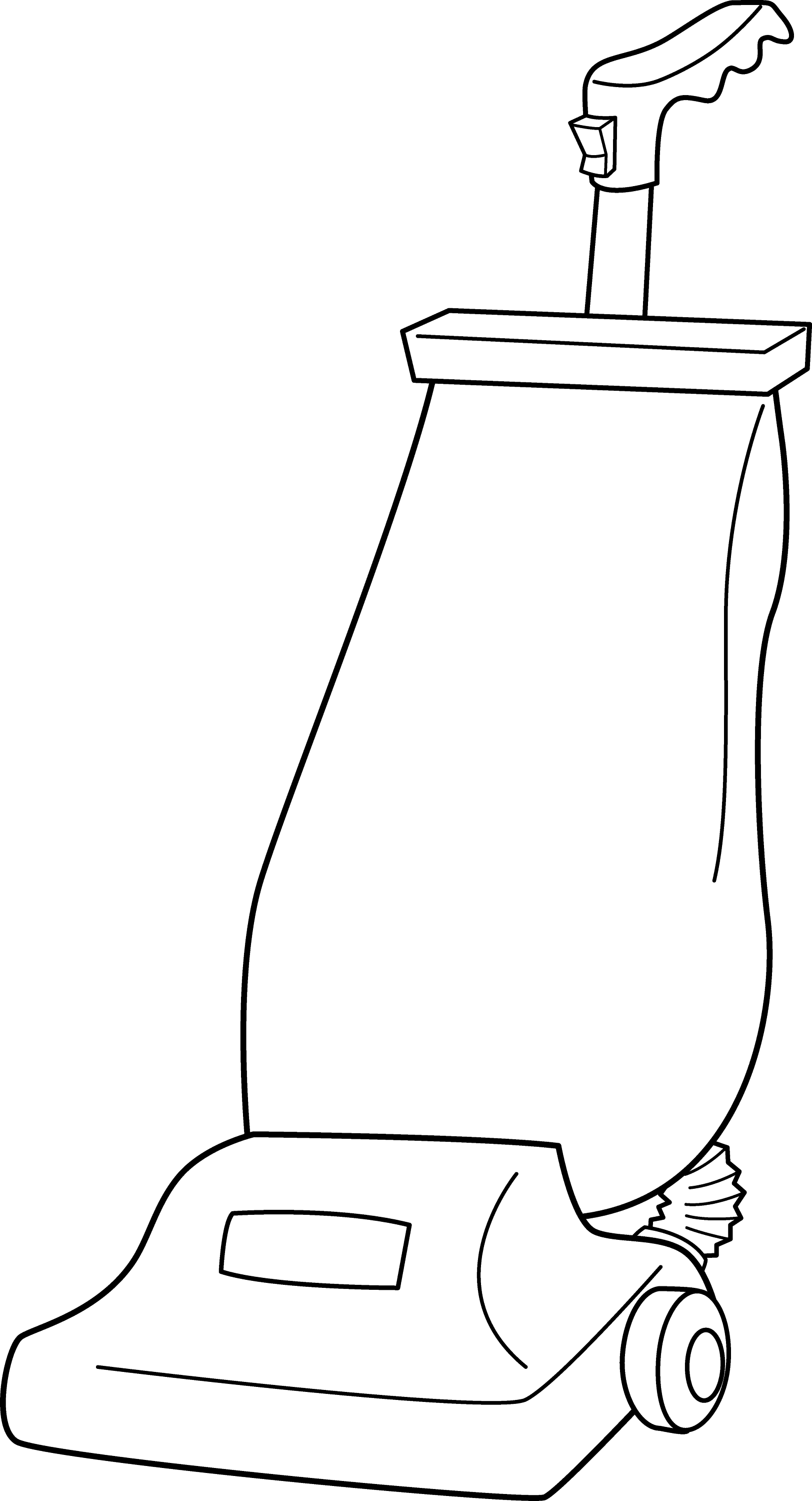 Vacuum Cleaner Line Art - Free Clip Art Vacuum Clipart Black And White
