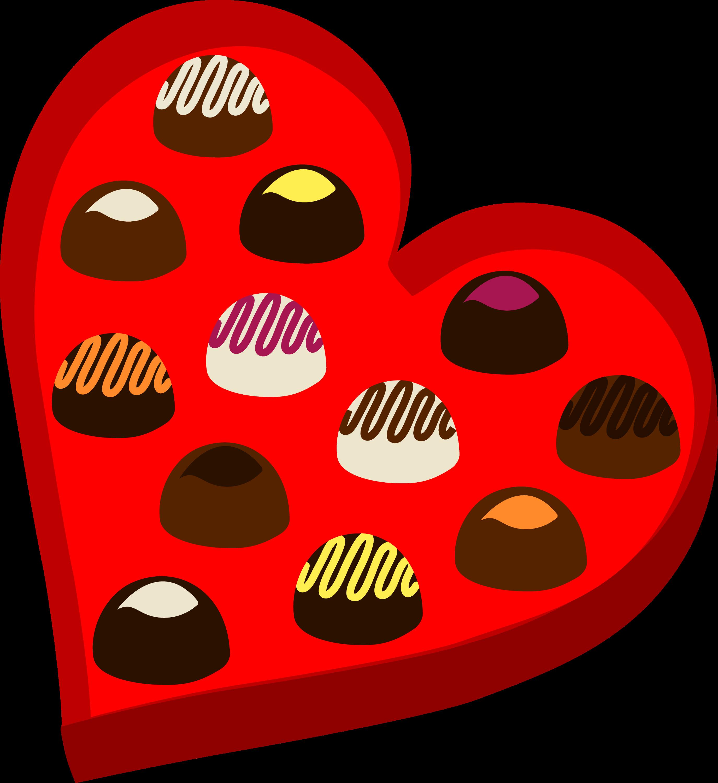 Heart Shaped Box of Valentines Chocolates - Free Clip Art