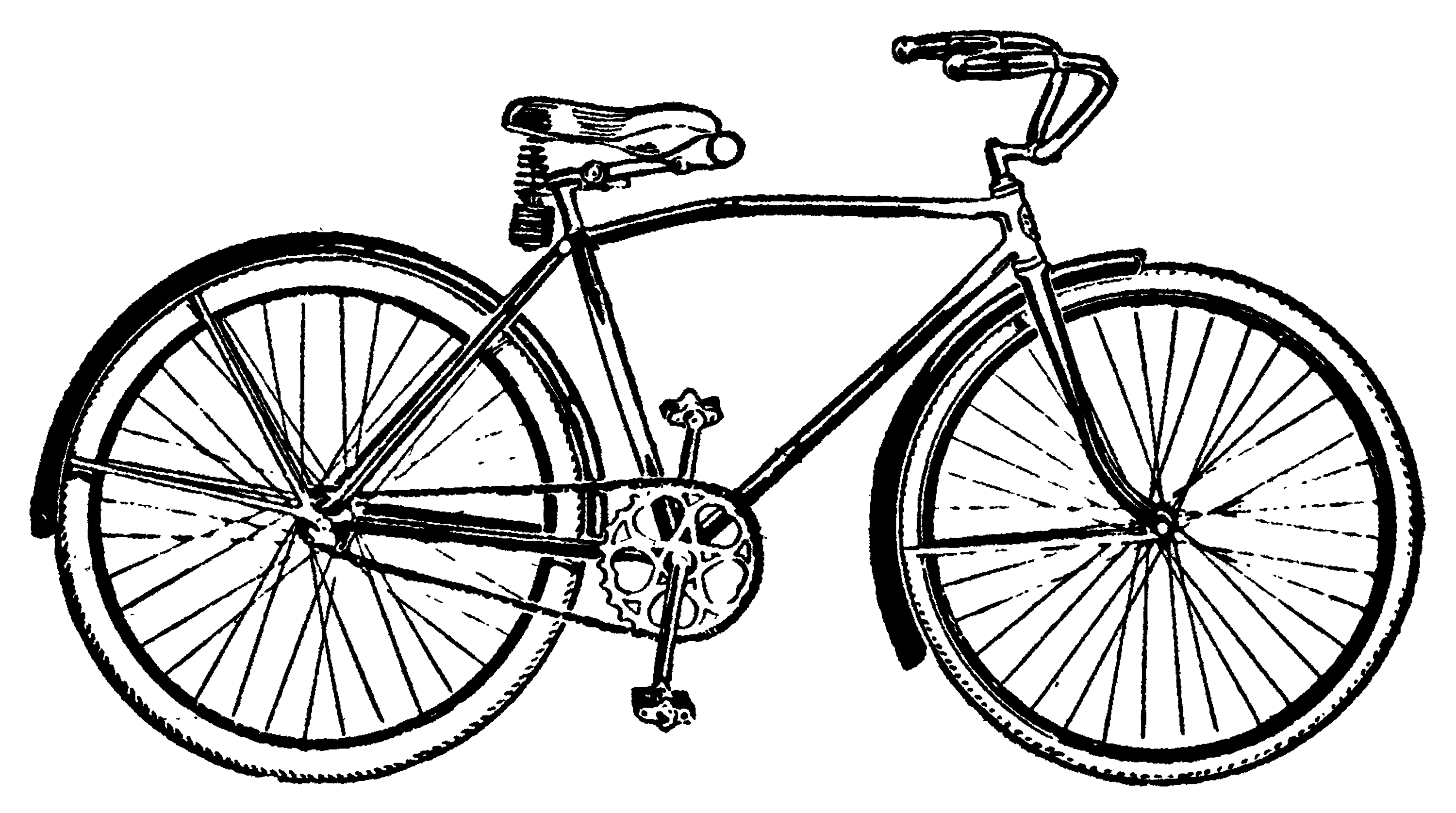 Vintage Bicycle Clip Art - Free Clip Art