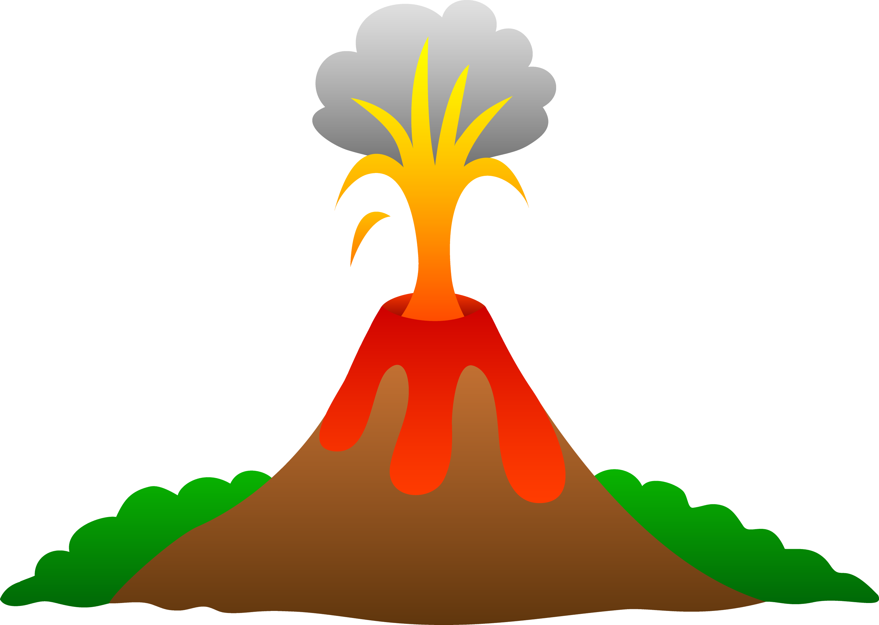 Volcano Erupting With Lava