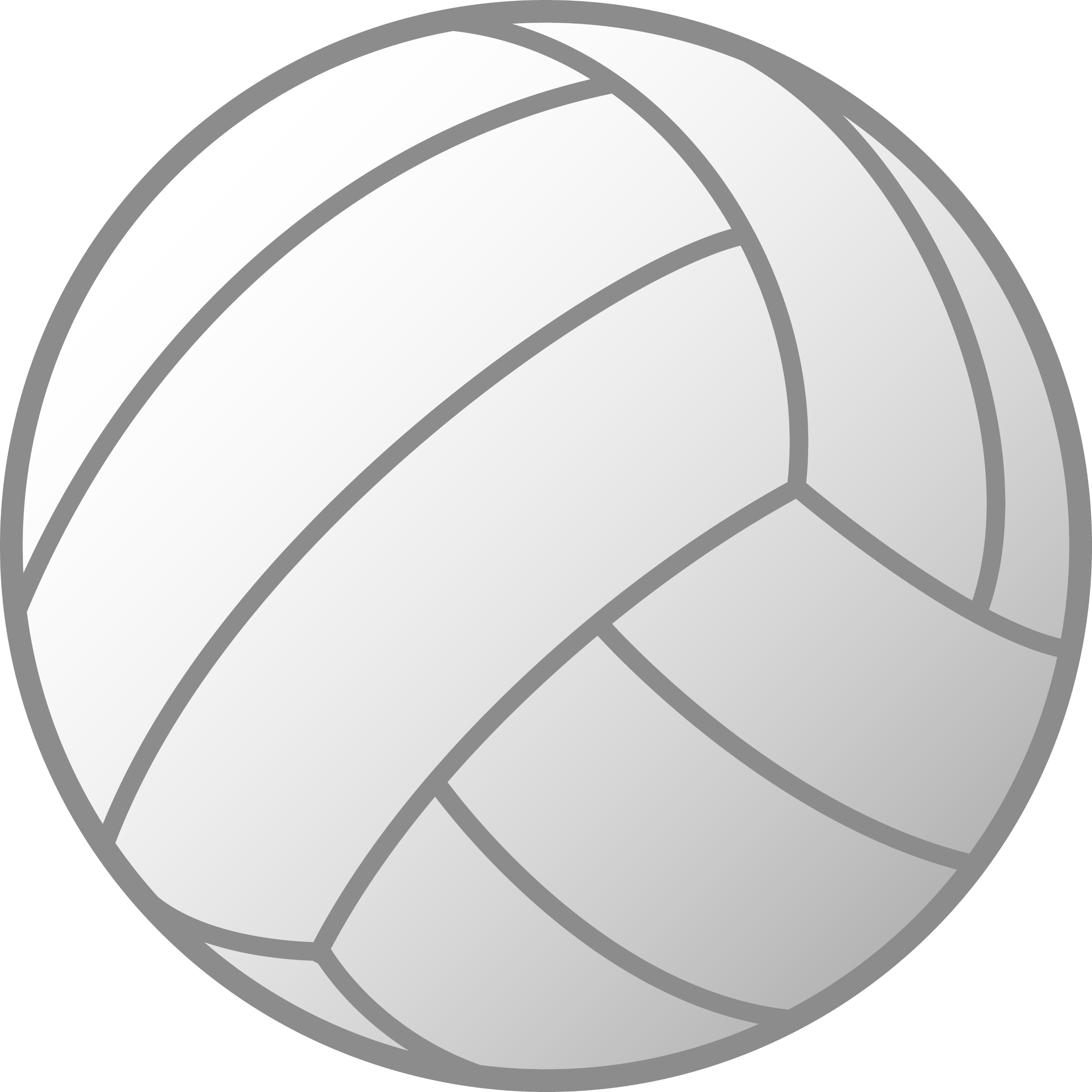 volleyball clipart vector-#7