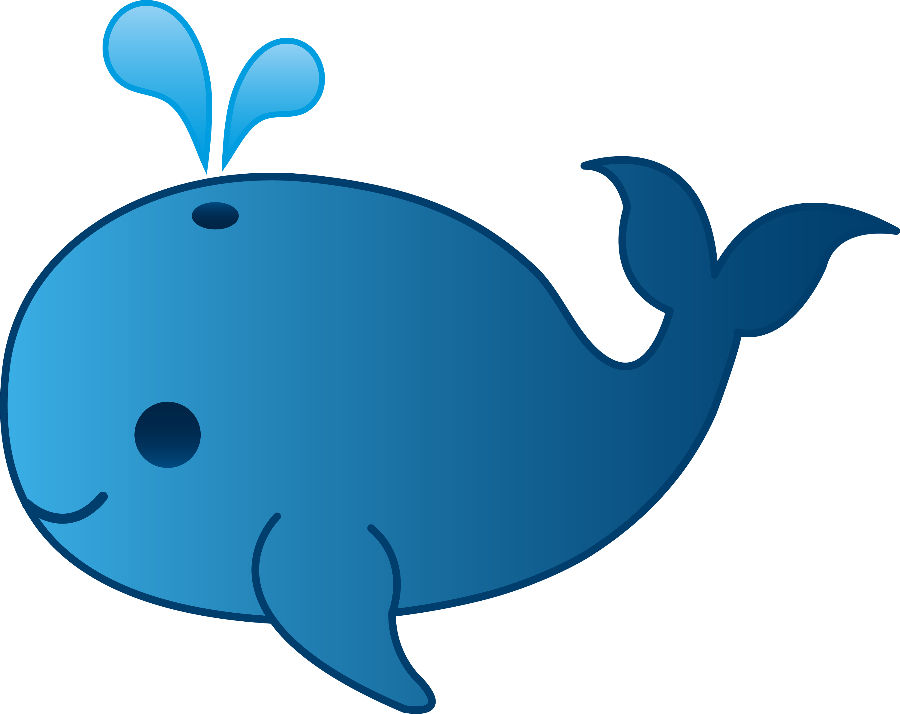 Little Blue Whale Clip Art - Free Clip Art