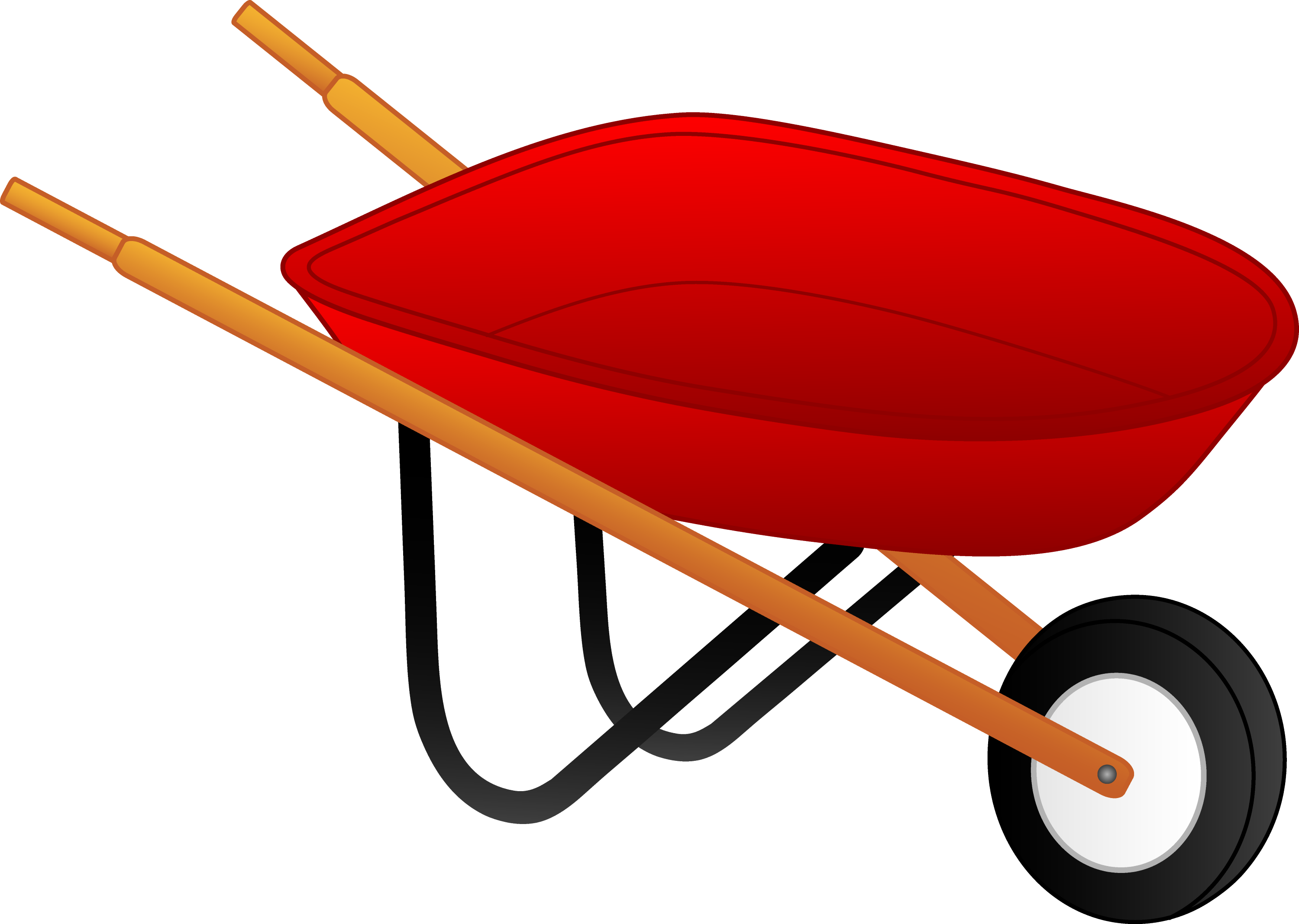 Little Red Wheelbarrow - Free Clip Art
