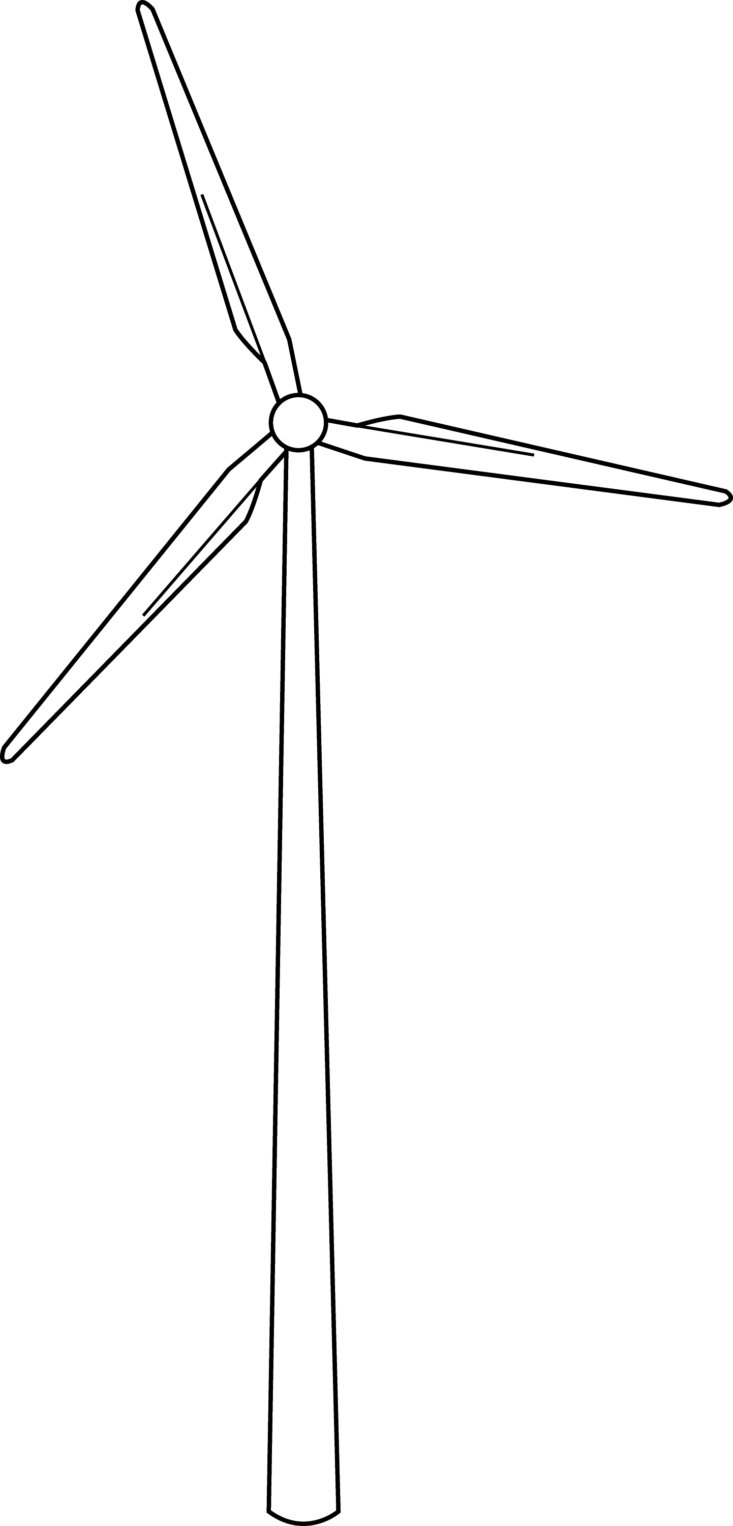 Line Drawing Windmill : Wind turbine line art free clip
