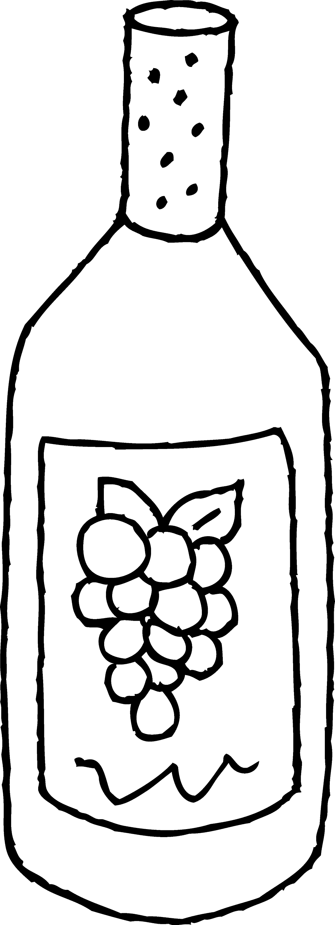 Free picture of a milk bottle coloring pages for How to color wine bottles