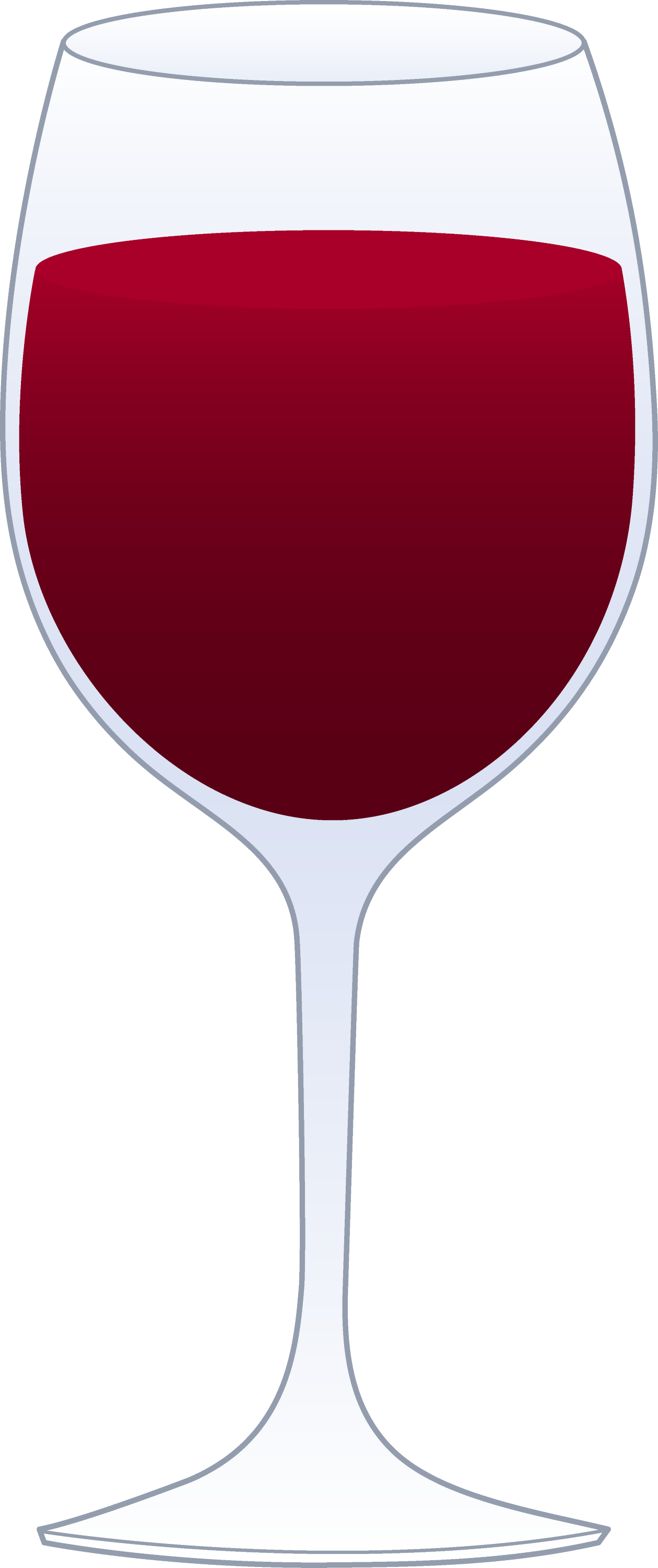 Glass of Red Wine - Free Clip Art