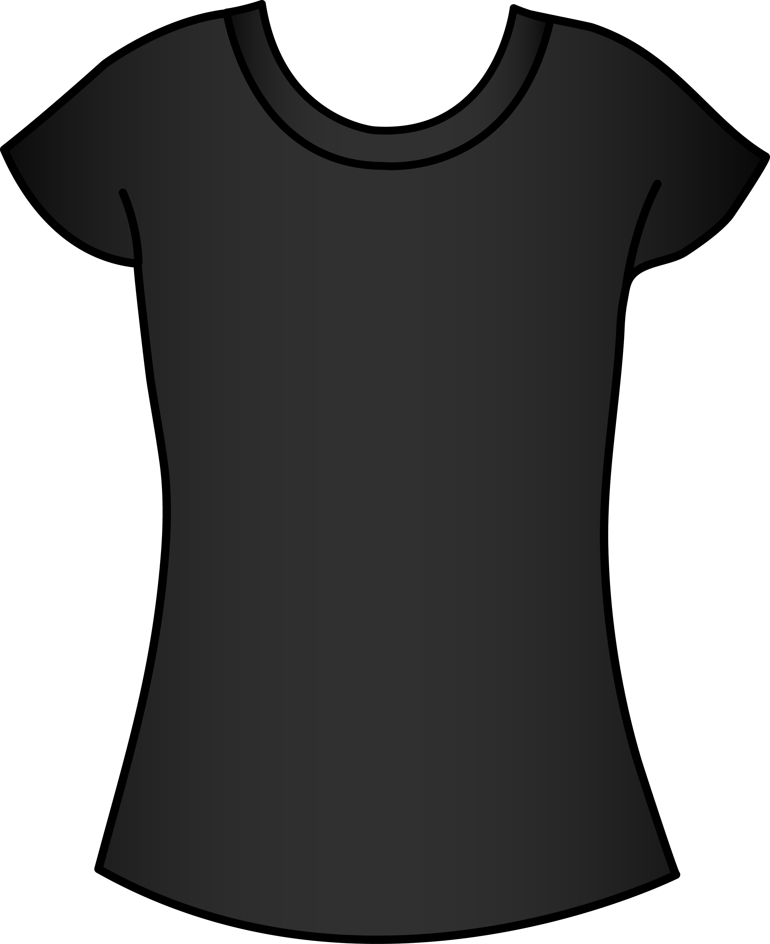 Black t shirt vector - Womens Black T Shirt Template Free Clip Art