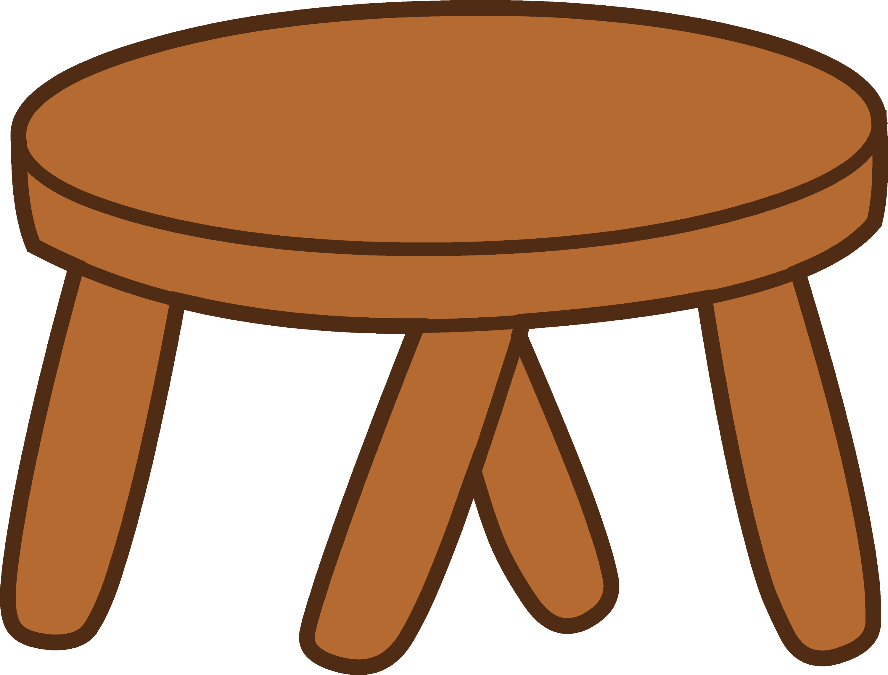 Wooden Stepping Stool Free Clip Art : woodenstool from sweetclipart.com size 3781 x 2873 png 87kB