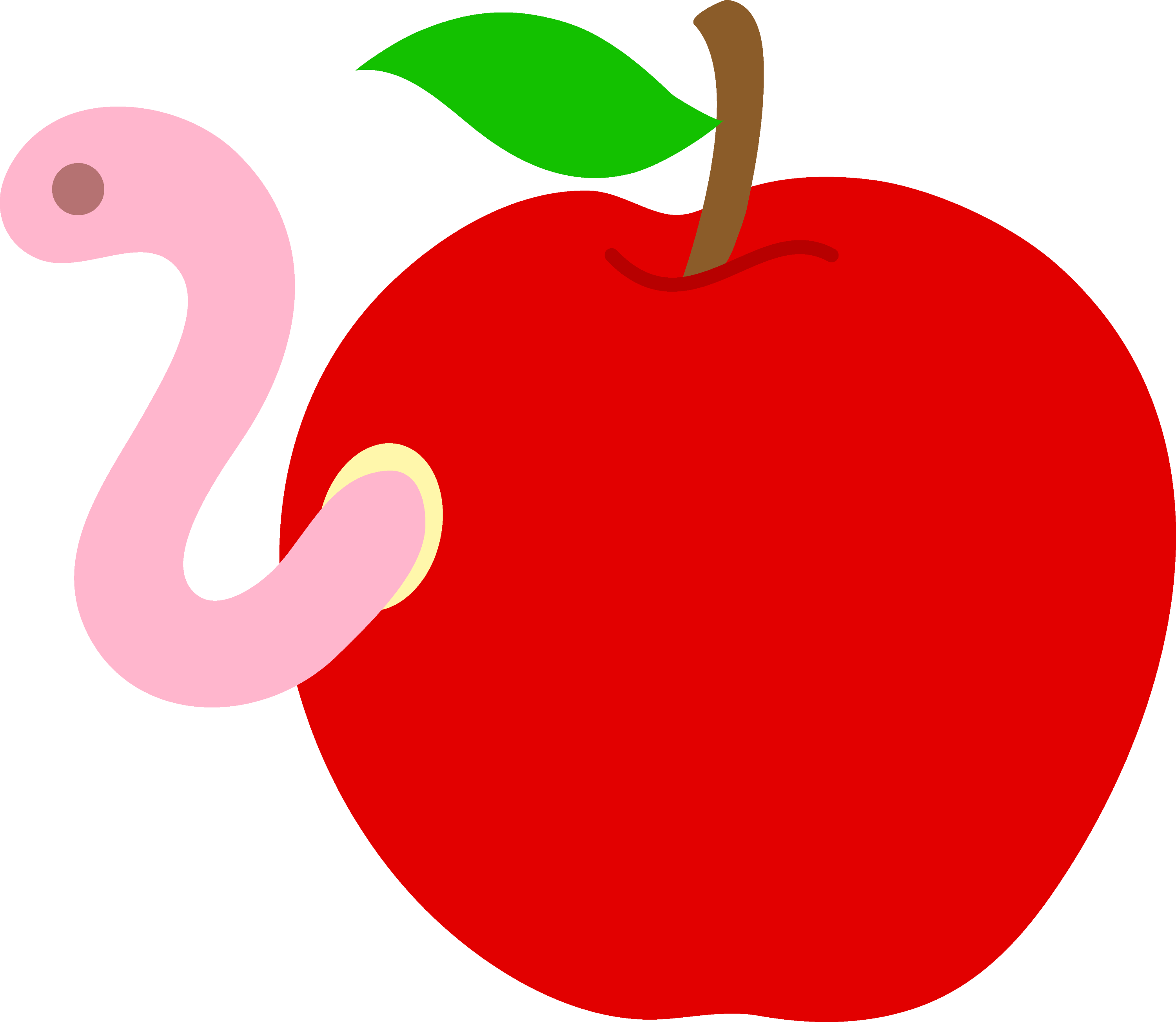 clipart apple worm - photo #13