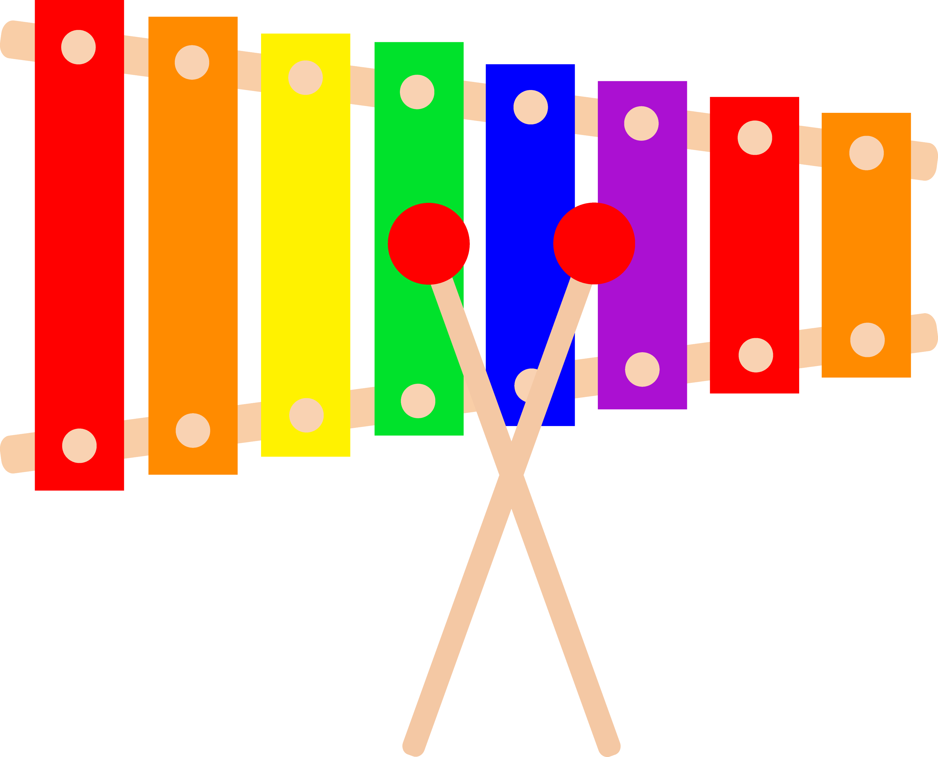 Colorful Xylophone Design - Free Clip Art for Xylophone Drawing For Kids  584dqh