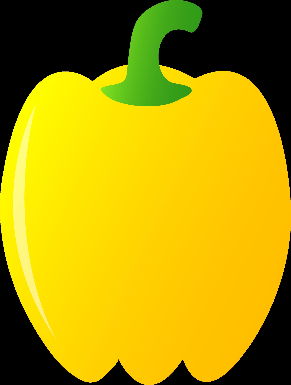 Yellow Bell Pepper - Free Clip Art