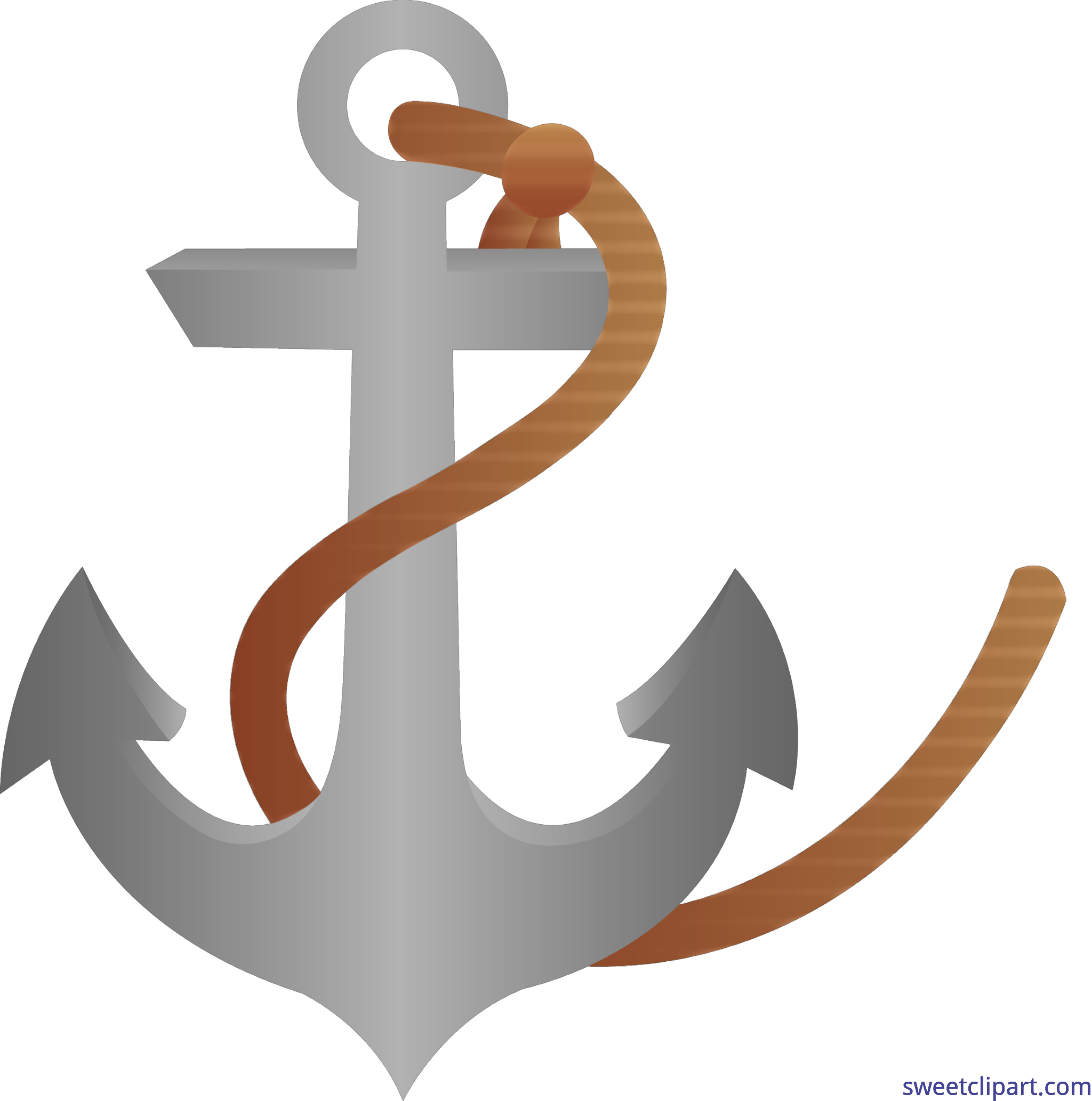 Anchor With Rope Clip Art