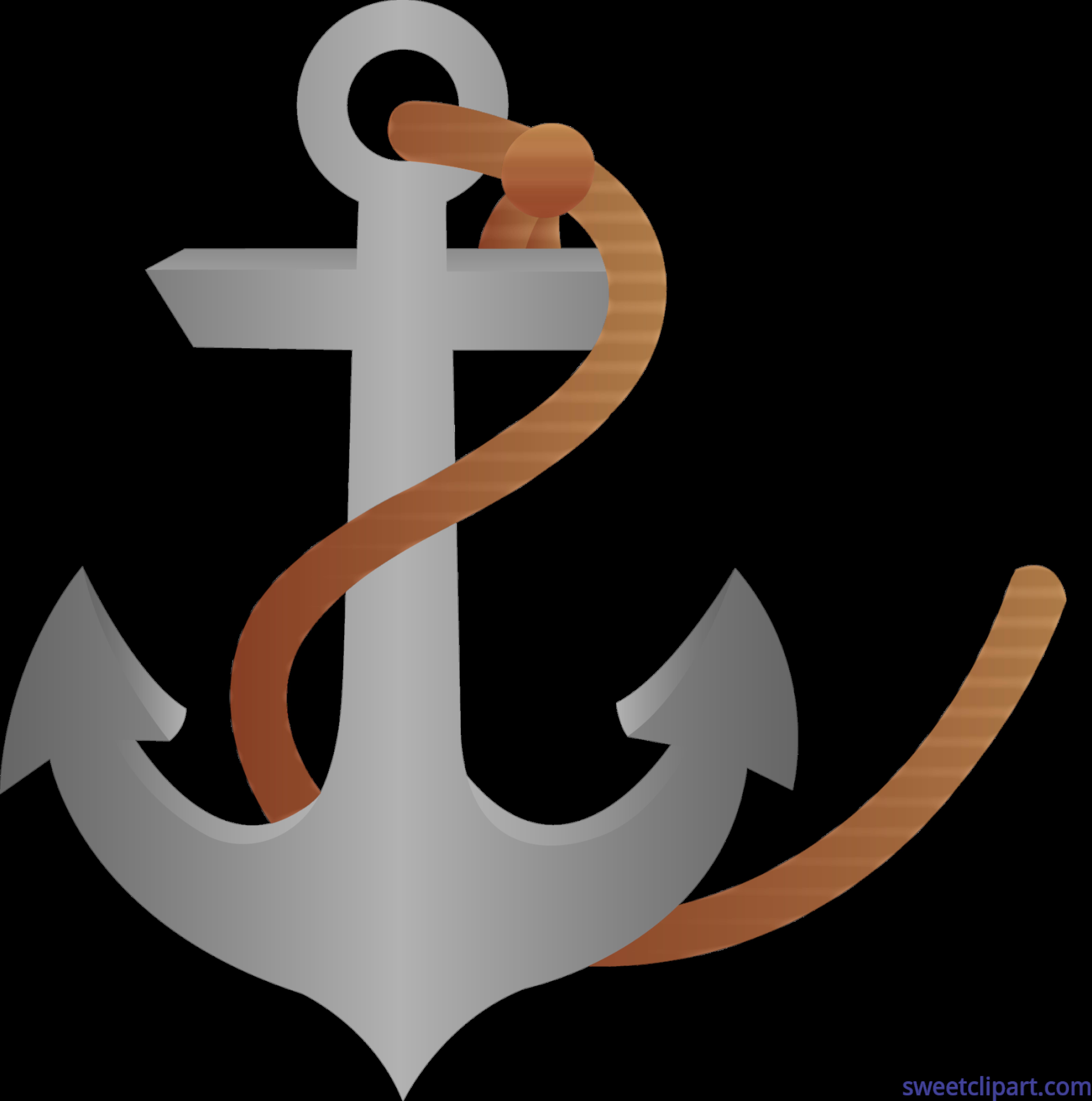 anchor with rope clip art sweet clip art rh m sweetclipart com Anchor with Chain Clip Art Nautical Anchor Clip Art