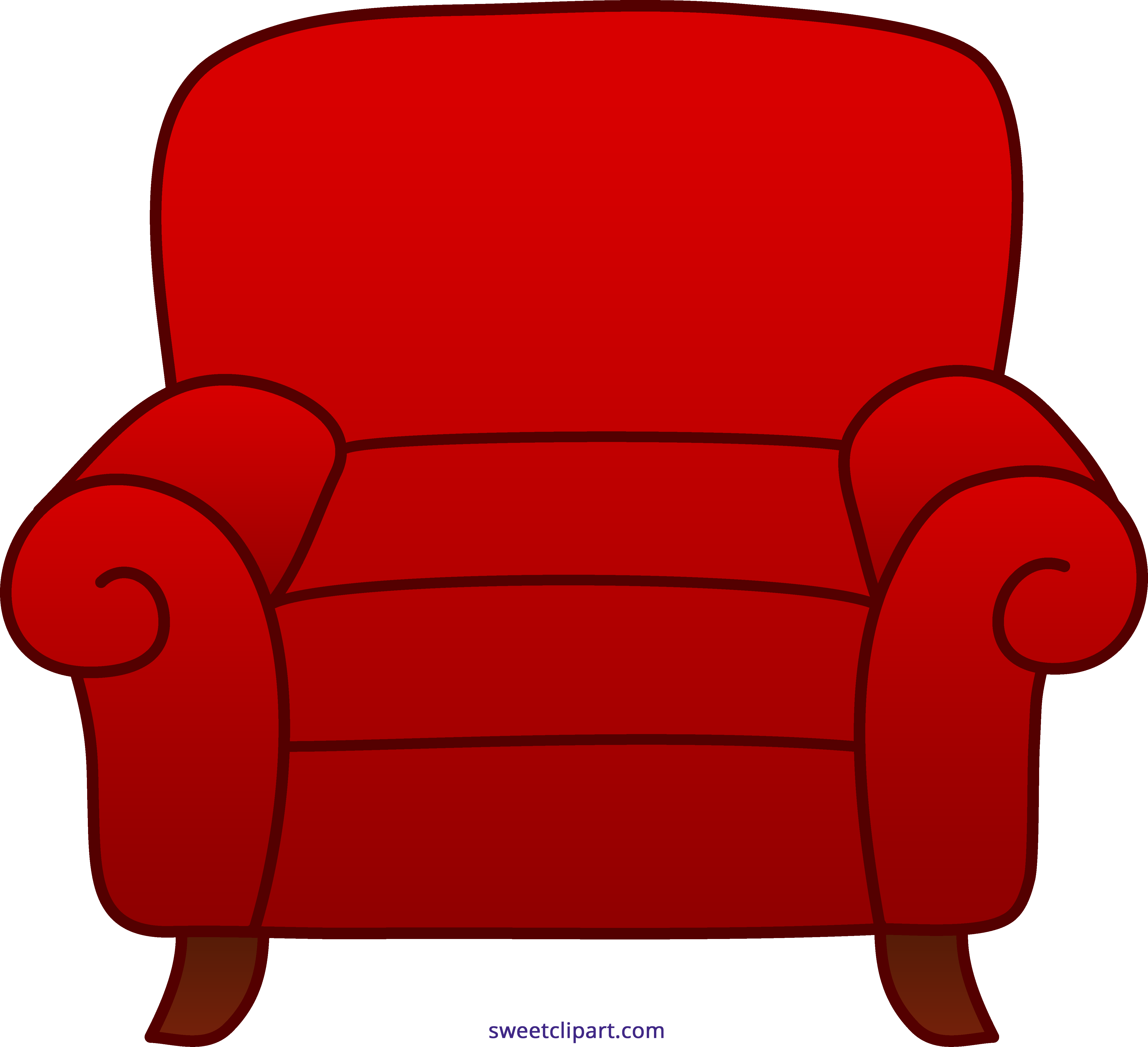 Armchair Red Clipart Sweet Clip Art