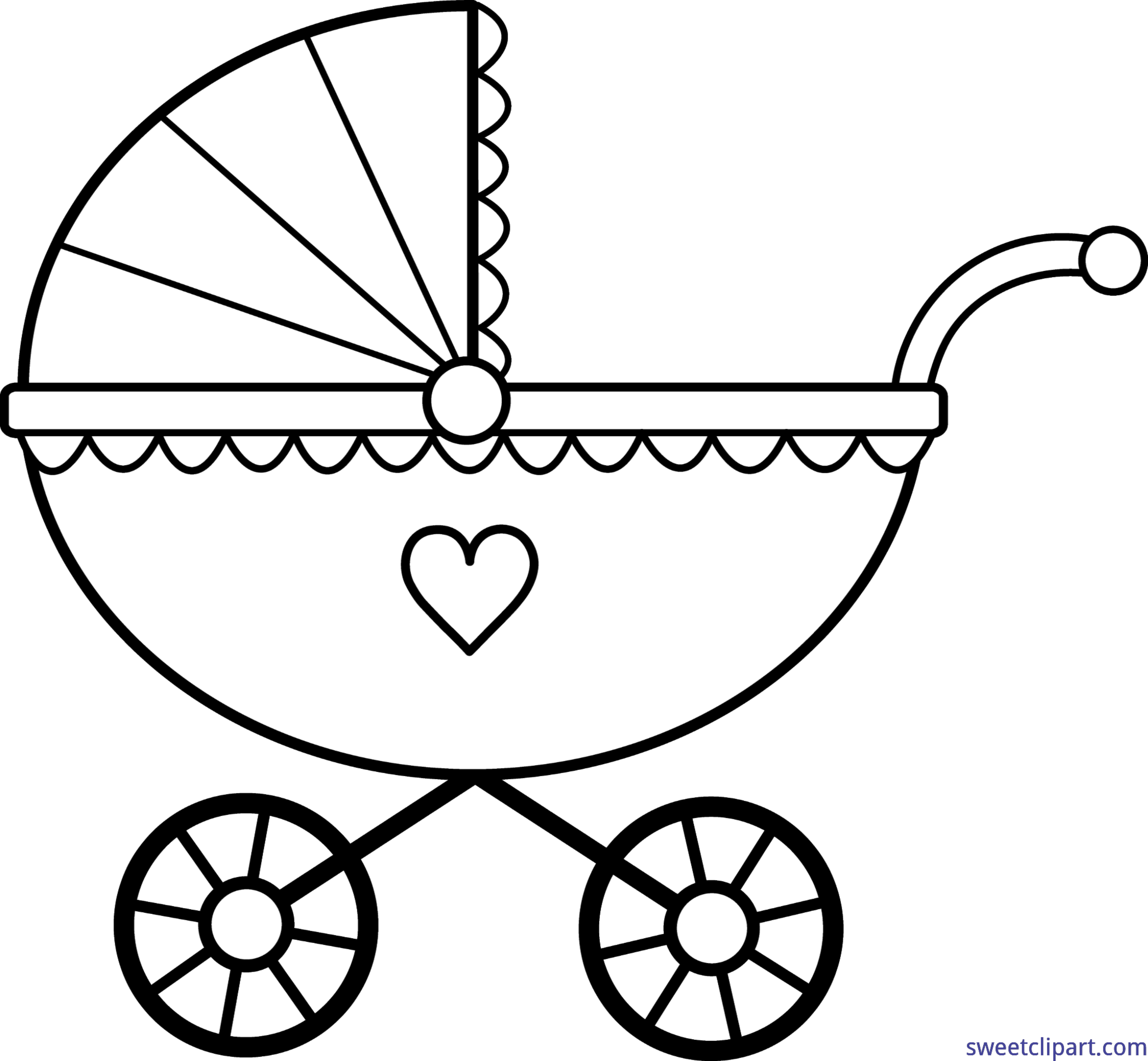 baby carriage lineart clip art sweet clip art rh m sweetclipart com carriage clipart carriage clipart free