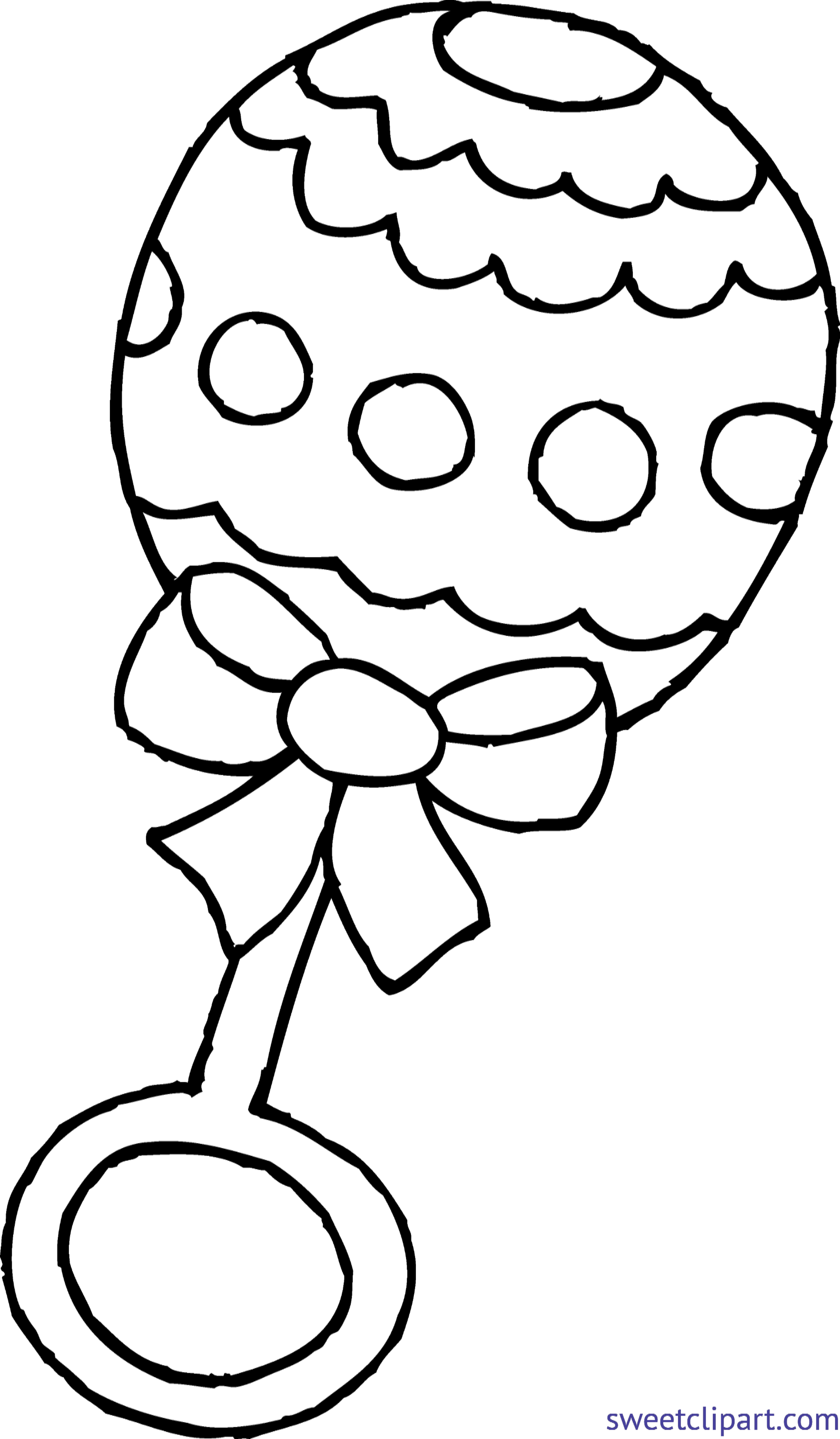 baby rattle coloring page clip art