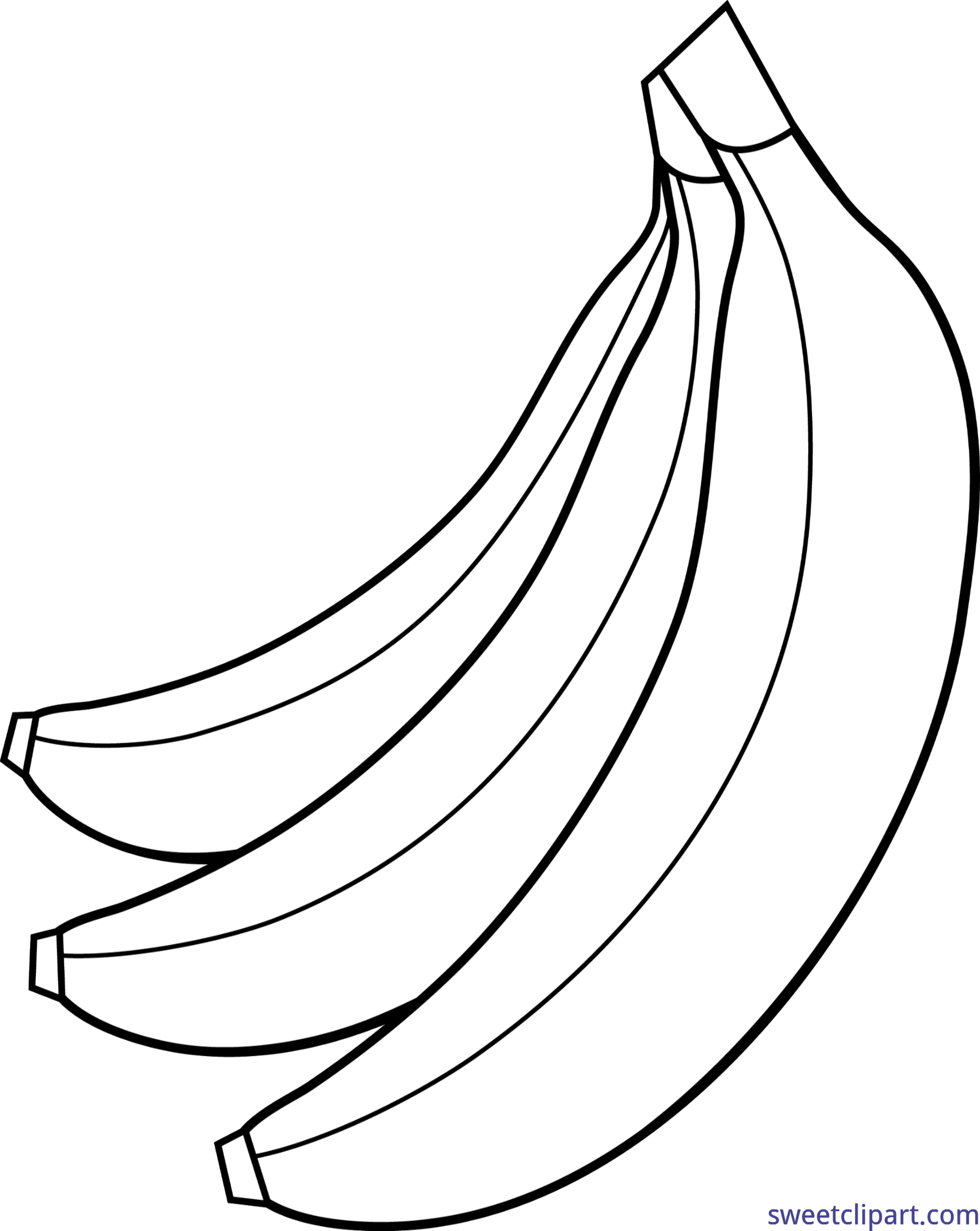 bananas bunch lineart clip art sweet clip art cute free clipart for 16 year old girl cute free clipart sharks
