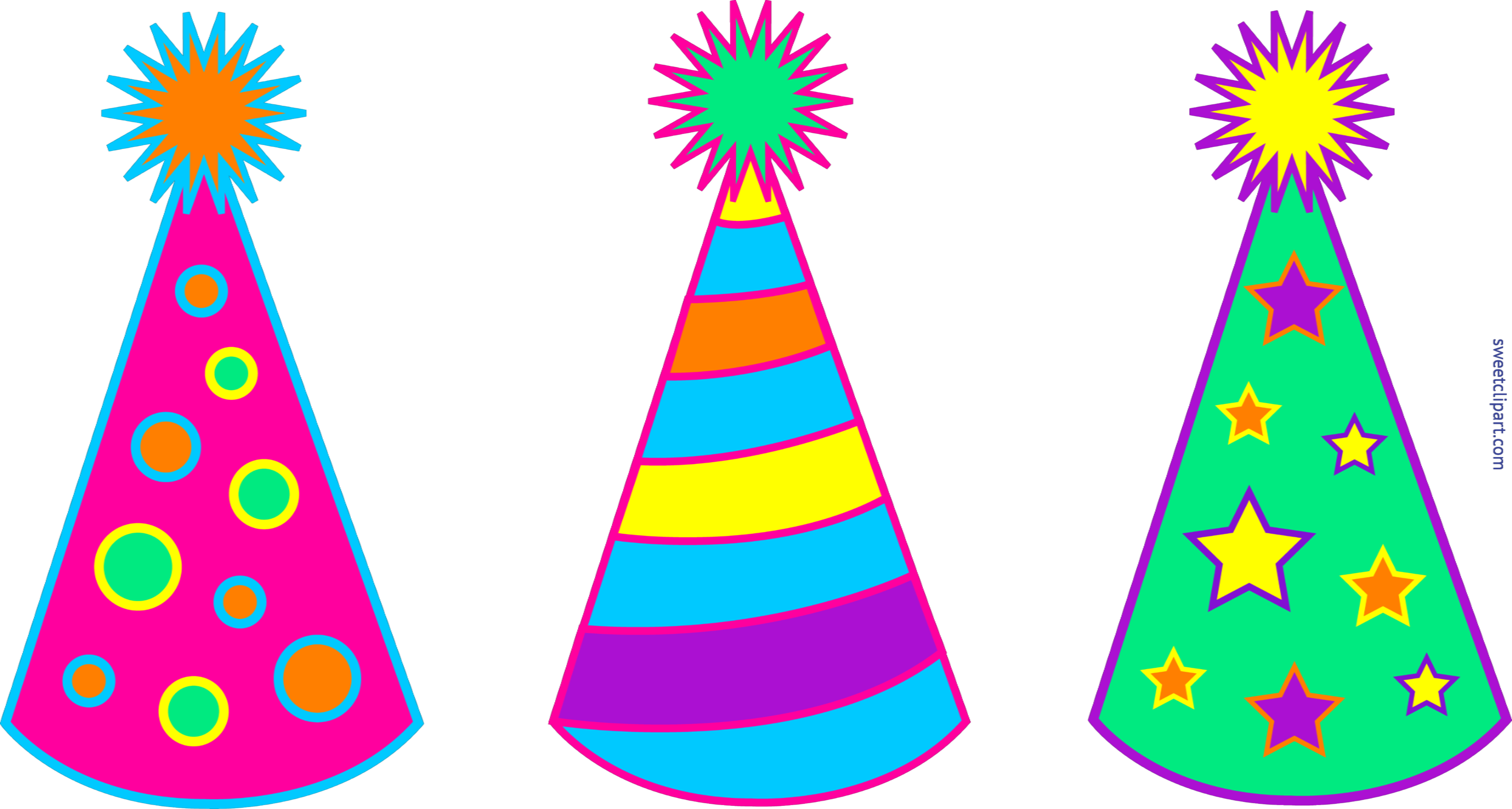 birthday party hats set 1 clip art sweet clip art rh m sweetclipart com party hat clip art black and white party hat clipart vector illustration