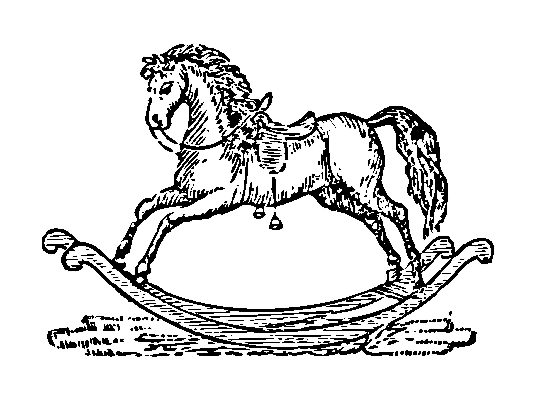 Bowen 1833 Mother Goose Rocking Horse Clip Art - Sweet Clip Art