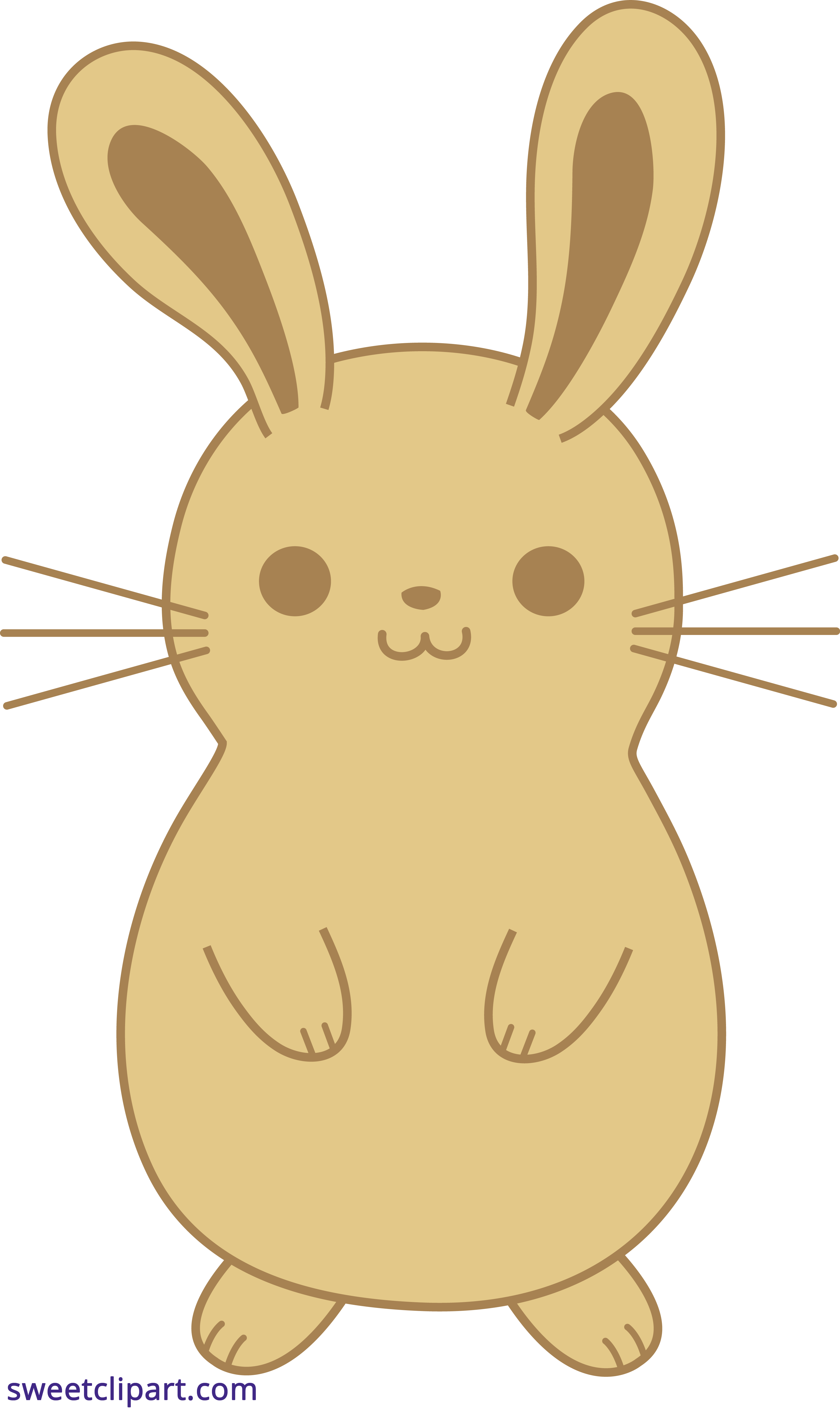 bunny rabbit cute brown clipart sweet clip art rh m sweetclipart com cute bunny clipart black and white cute bunny clipart free