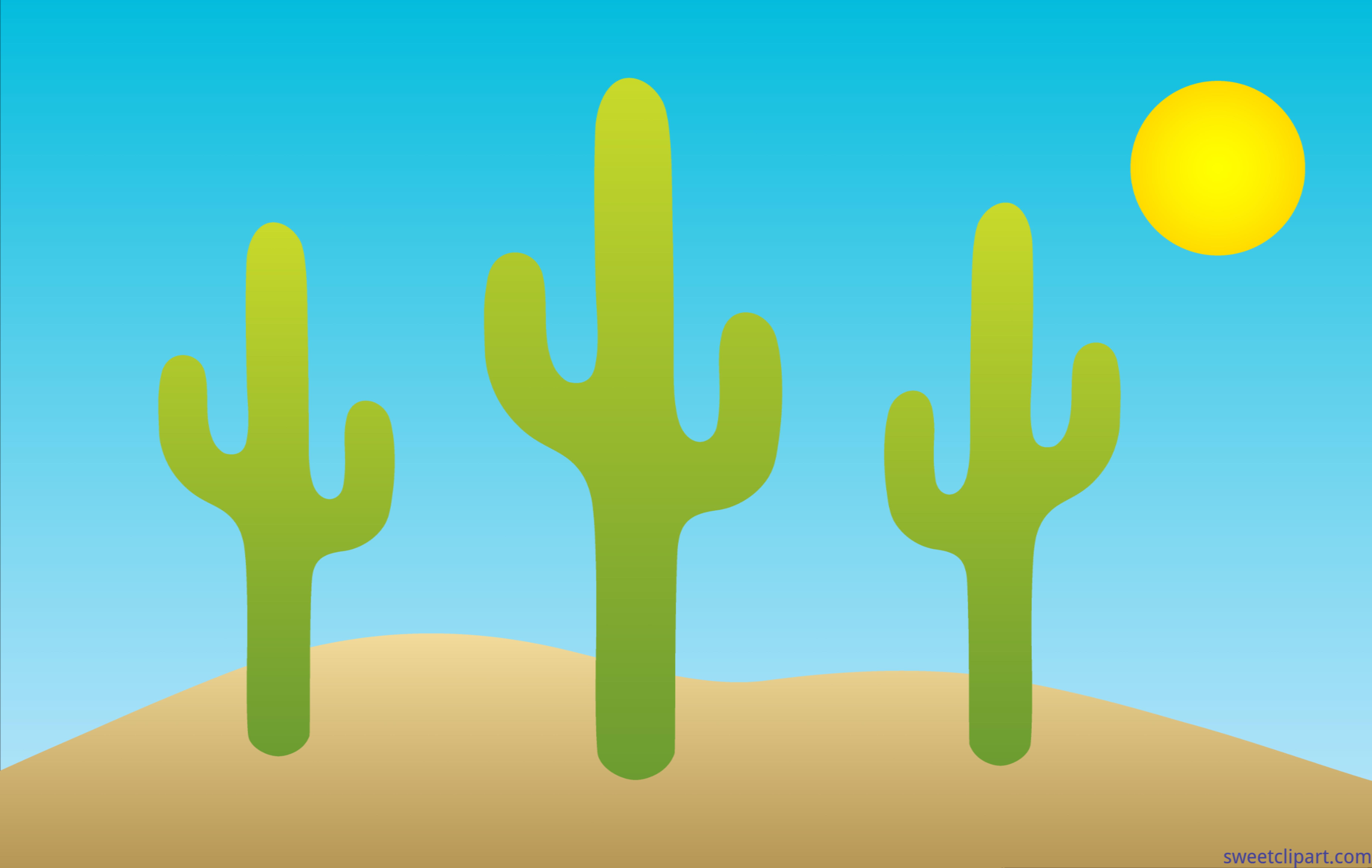 Cactus desert. Cacti clip art sweet