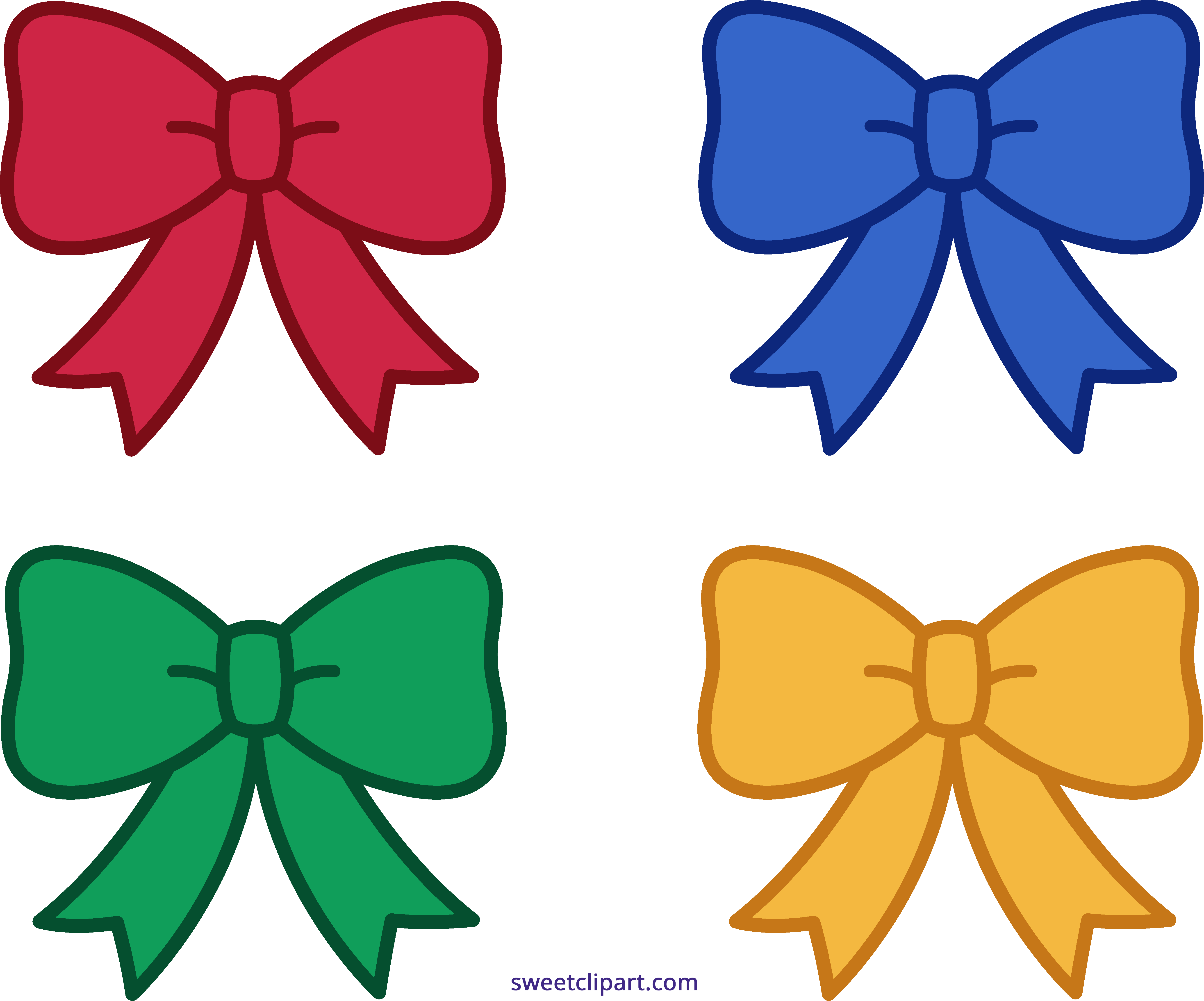 four christmas bows clipart sweet clip art rh m sweetclipart com christmas bow clip art black and white christmas bow tie clipart