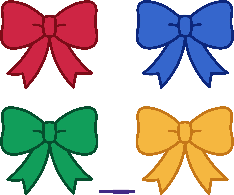 four christmas bows clipart sweet clip art rh m sweetclipart com christmas bow clip art free christmas box clip art
