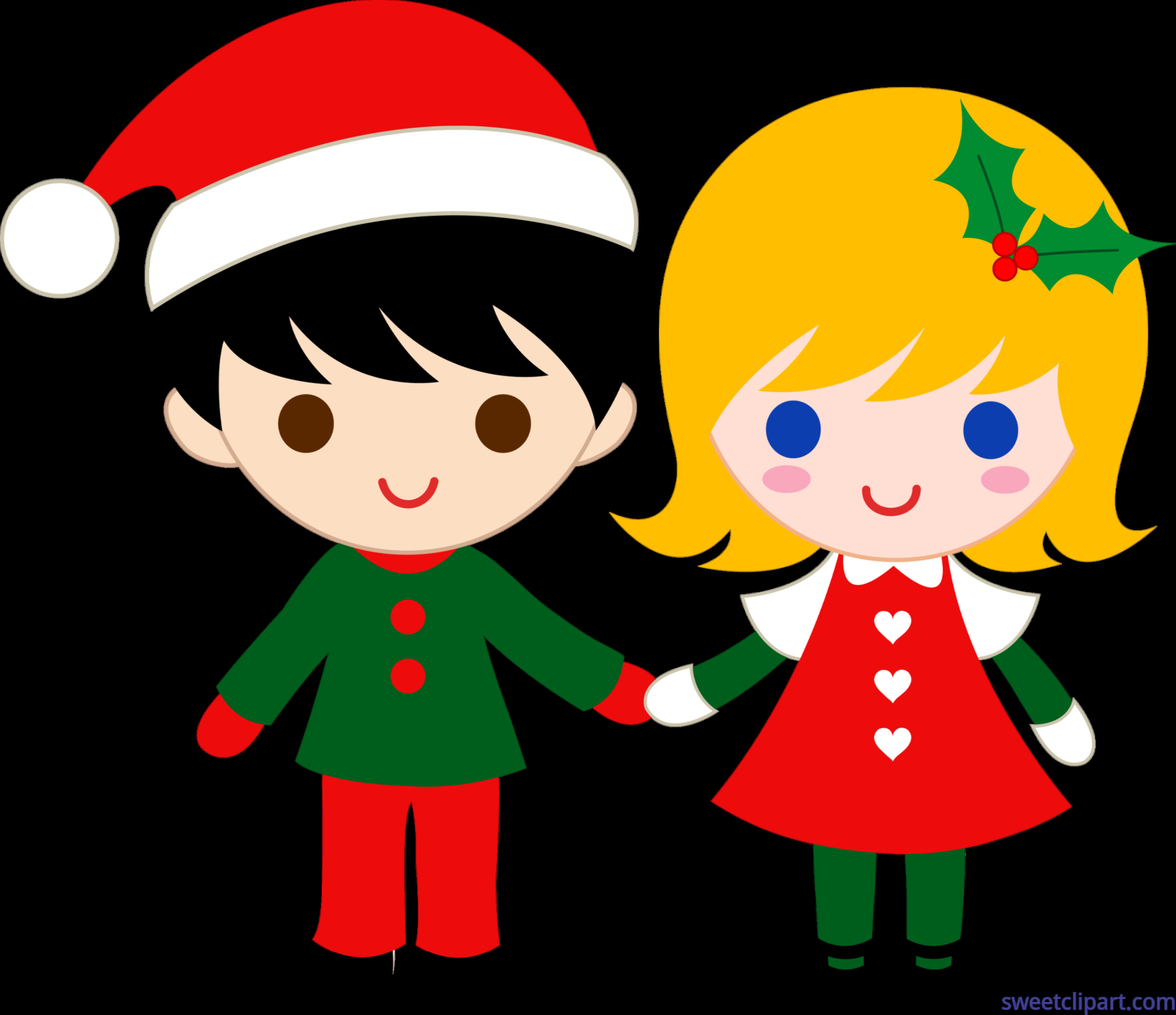 Christmas Kids Clip Art - Sweet Clip Art