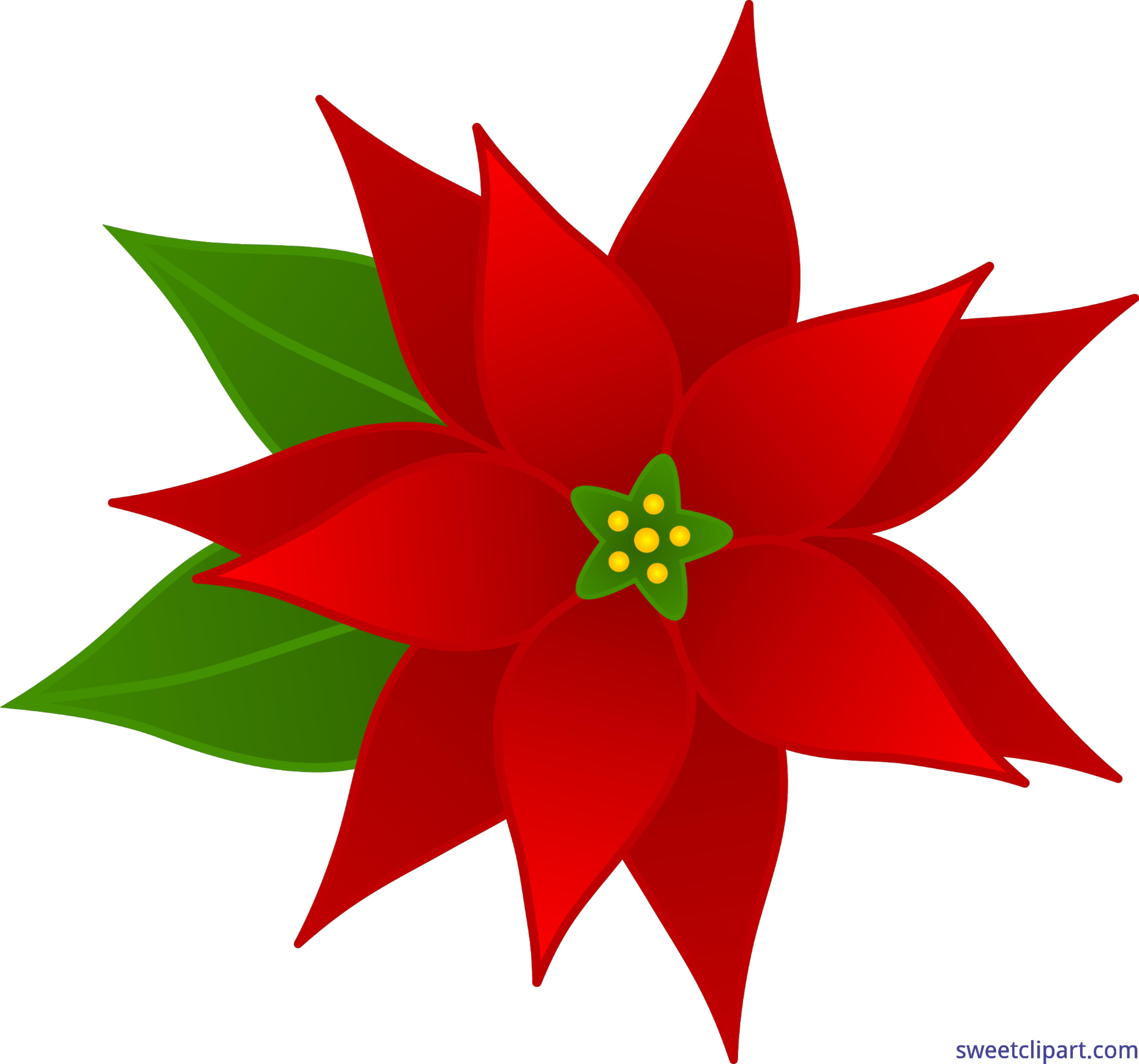 christmas poinsettia clip art sweet clip art rh m sweetclipart com Christmas Ornament Clip Art Christmas Bells Clip Art
