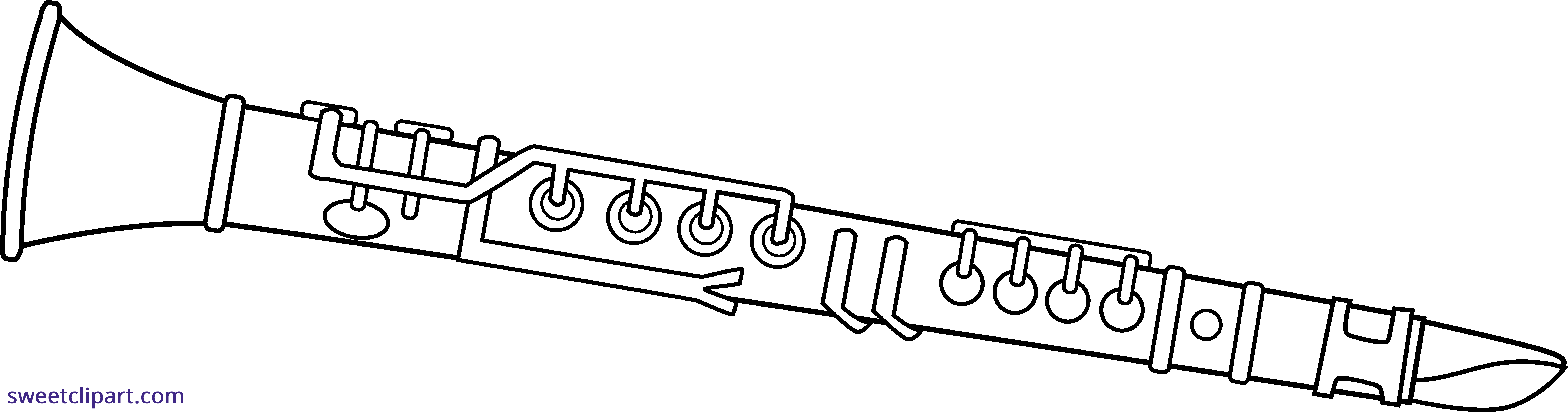 flute clipart black and white - HD7366×1937