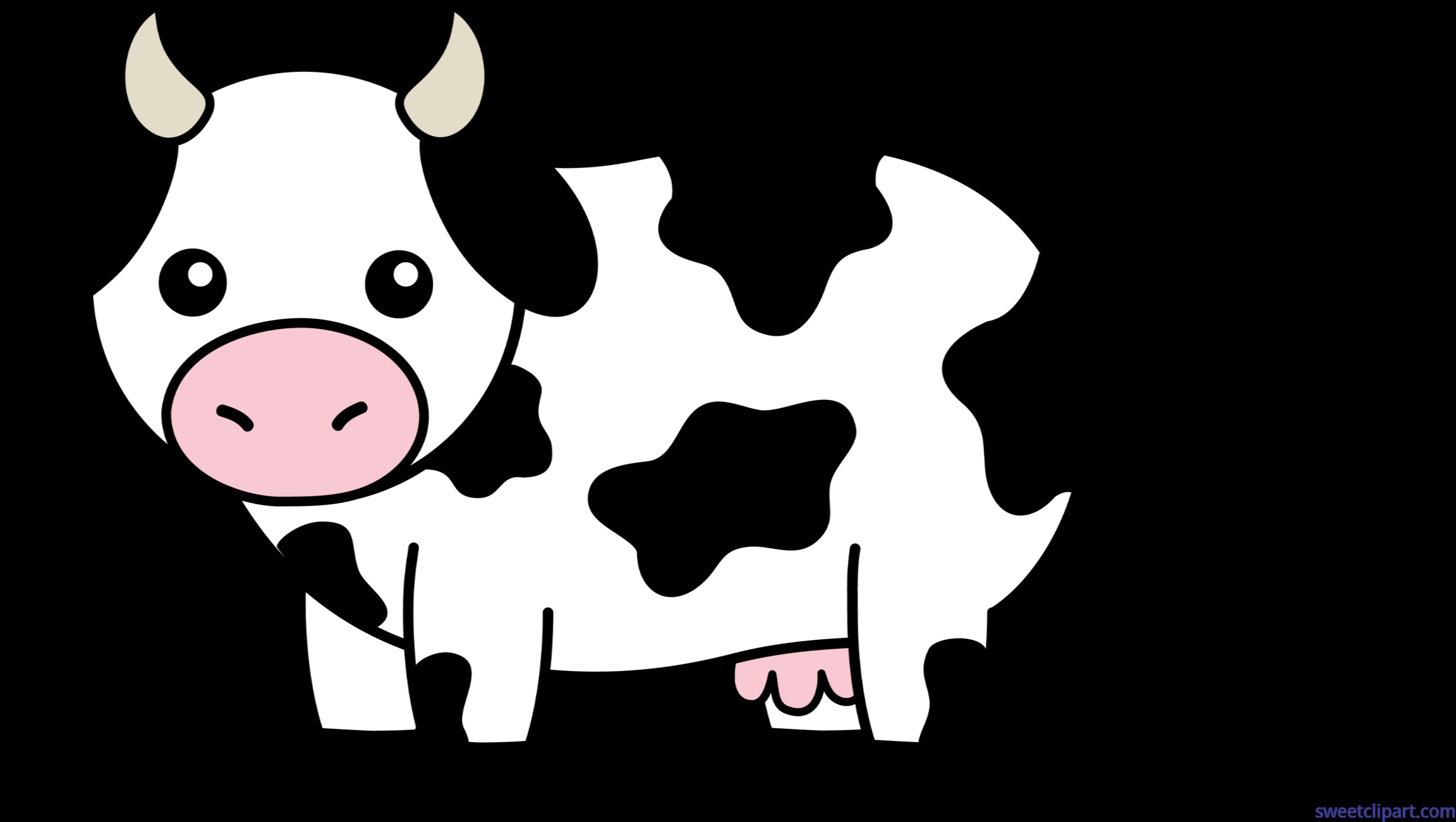 cow black white clip art sweet clip art rh m sweetclipart com castle clipart cattle clip art free images