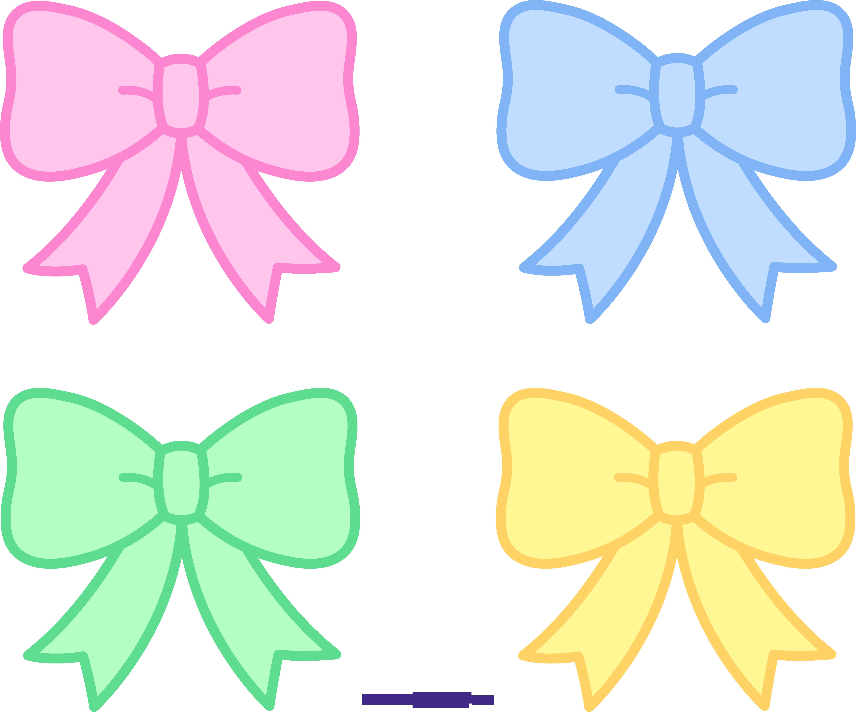 Cute Pastel Bows Ribbons Clipart Sweet Clip Art